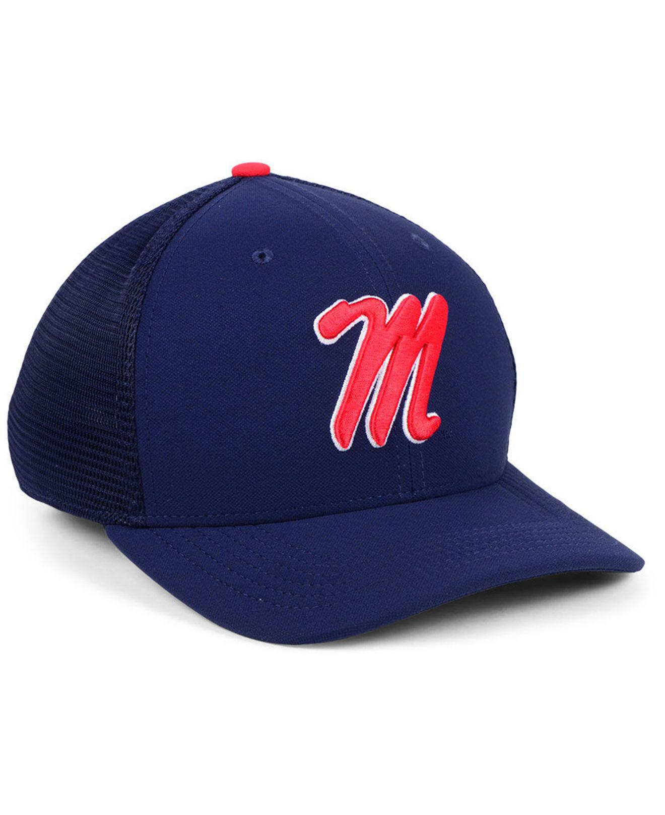 7fb06639069cb6 ... low cost sale nike blue ole miss rebels col aro swooshflex cap for men  lyst.