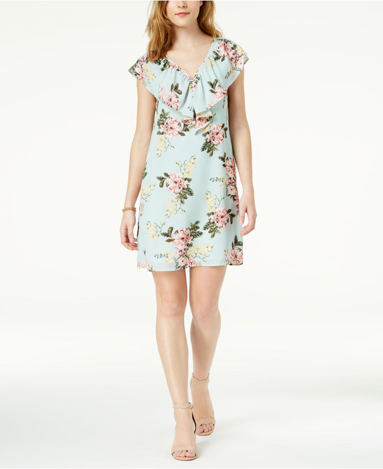 fff151e2c484 Lyst - Maison Jules Printed Flounce Dress