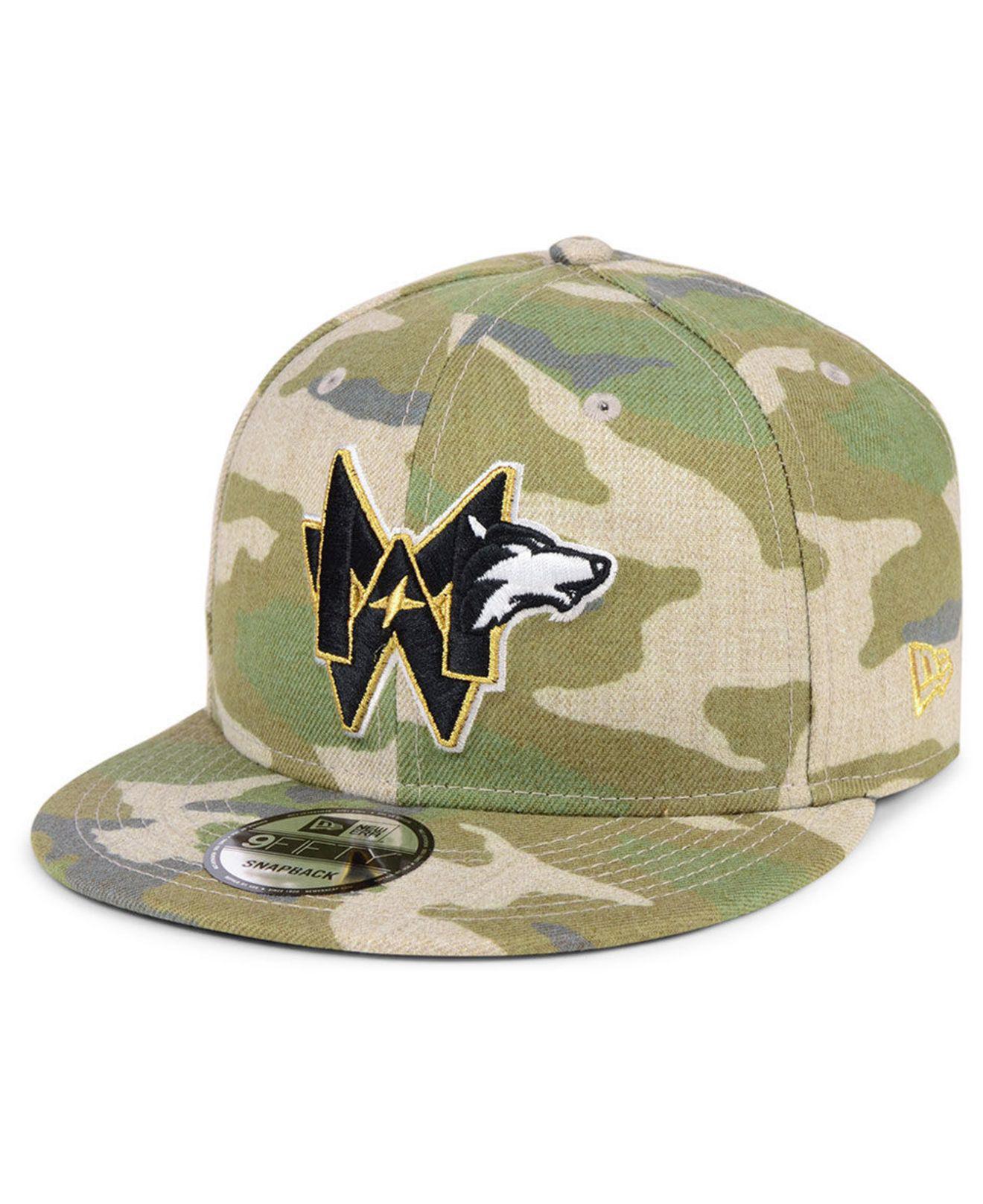 half off 65f16 1573f KTZ Minnesota Timberwolves Combo Camo 9fifty Snapback Cap in Green ...