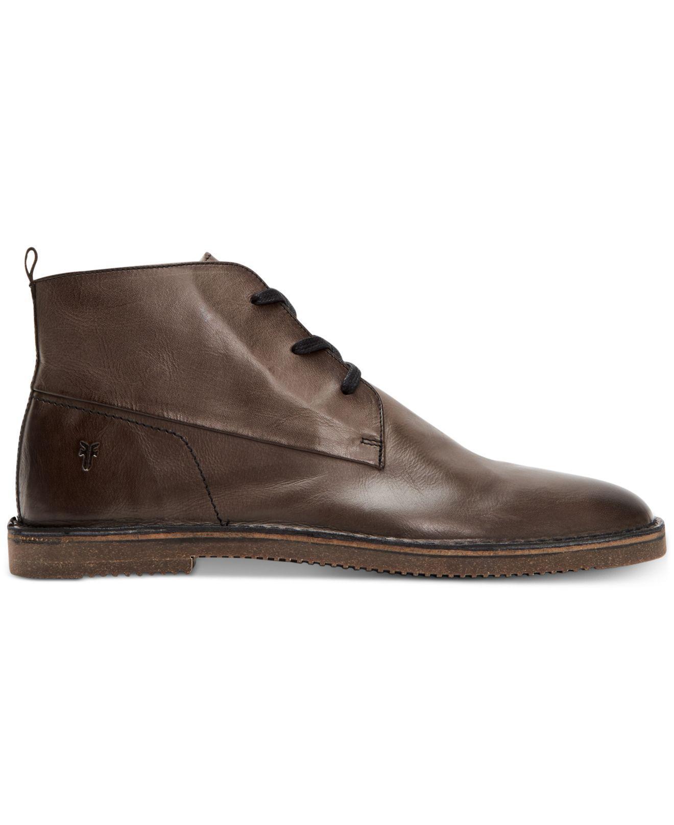 71e8630b865 Lyst - Frye Ashland Leather Chukkas in Brown for Men