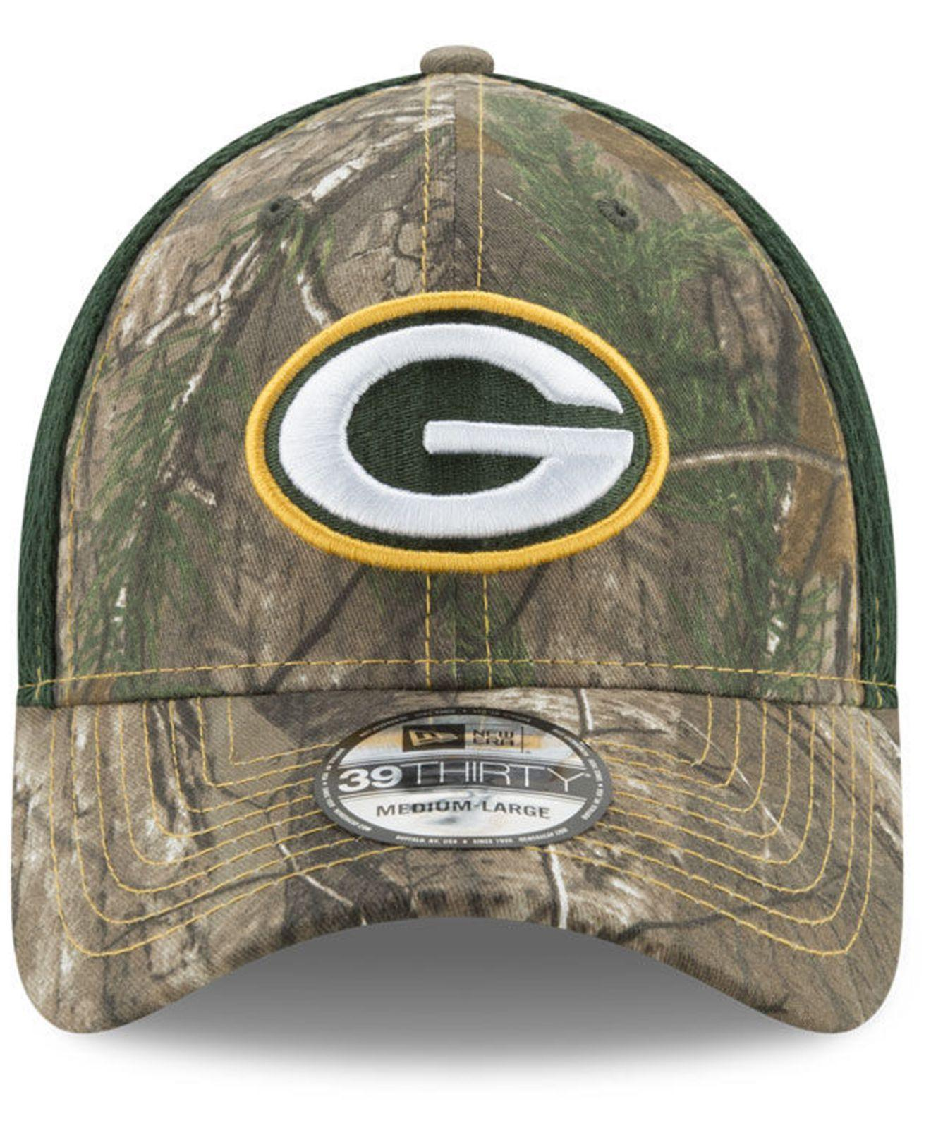da46f691 Lyst - KTZ Green Bay Packers Realtree Camo Team Color Neo 39thirty ...