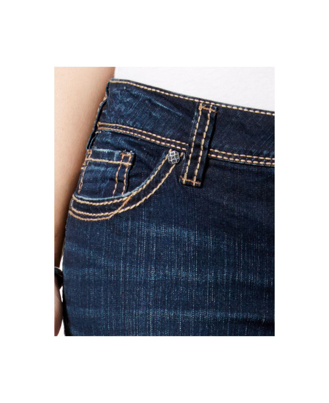 f64837e9 Lyst - Silver Jeans Co. Plus Size Suki Indigo Wash Straight-leg Jeans in  Blue