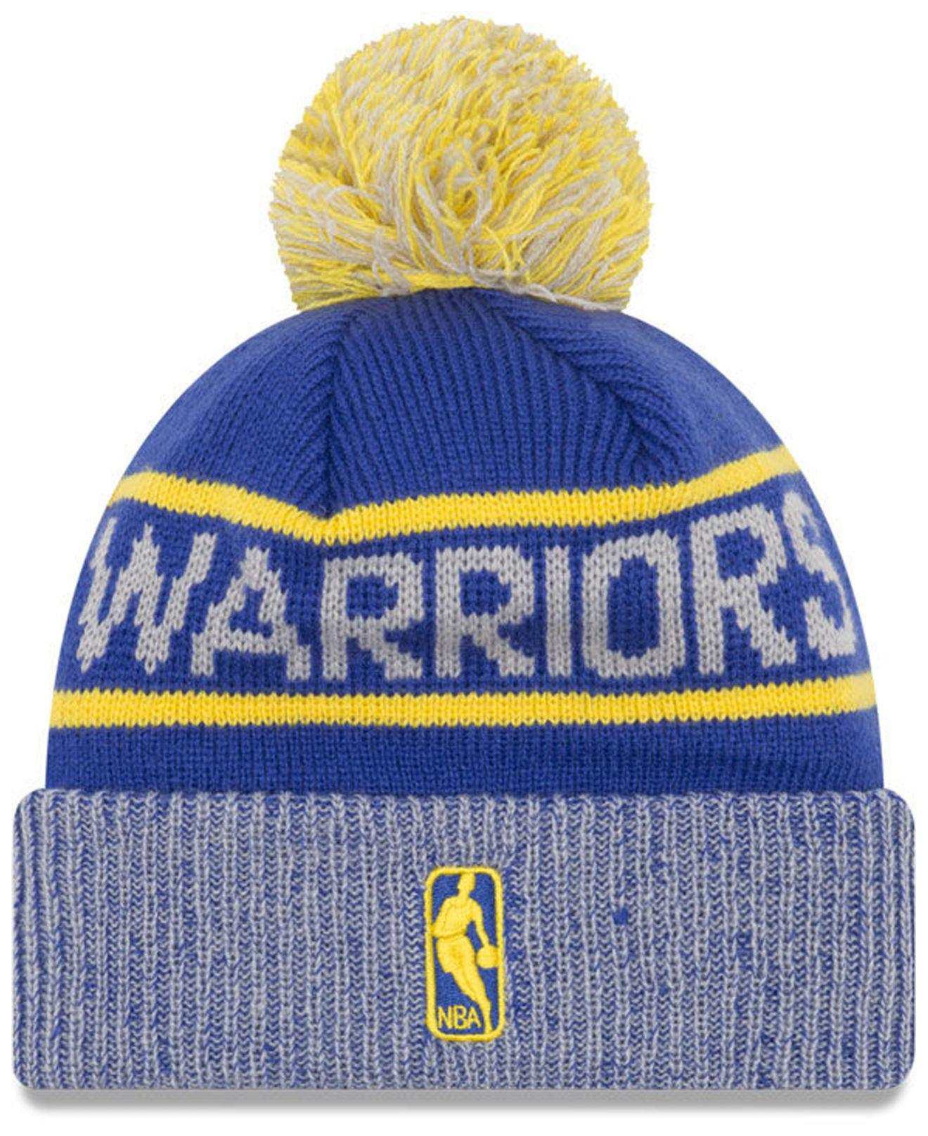 7862abdf91f ... discount code for lyst ktz golden state warriors court force pom knit  hat in blue for