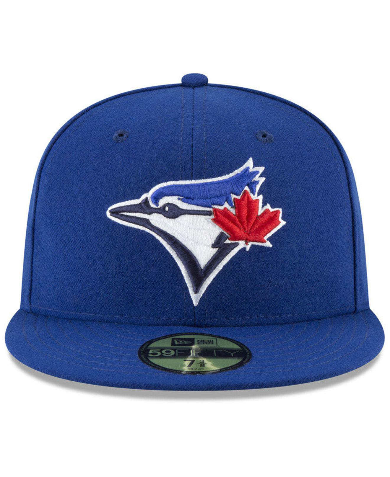 new style 82fbf 2cfbb ... where to buy lyst ktz toronto blue jays sandlot patch 59fifty fitted  cap in blue for