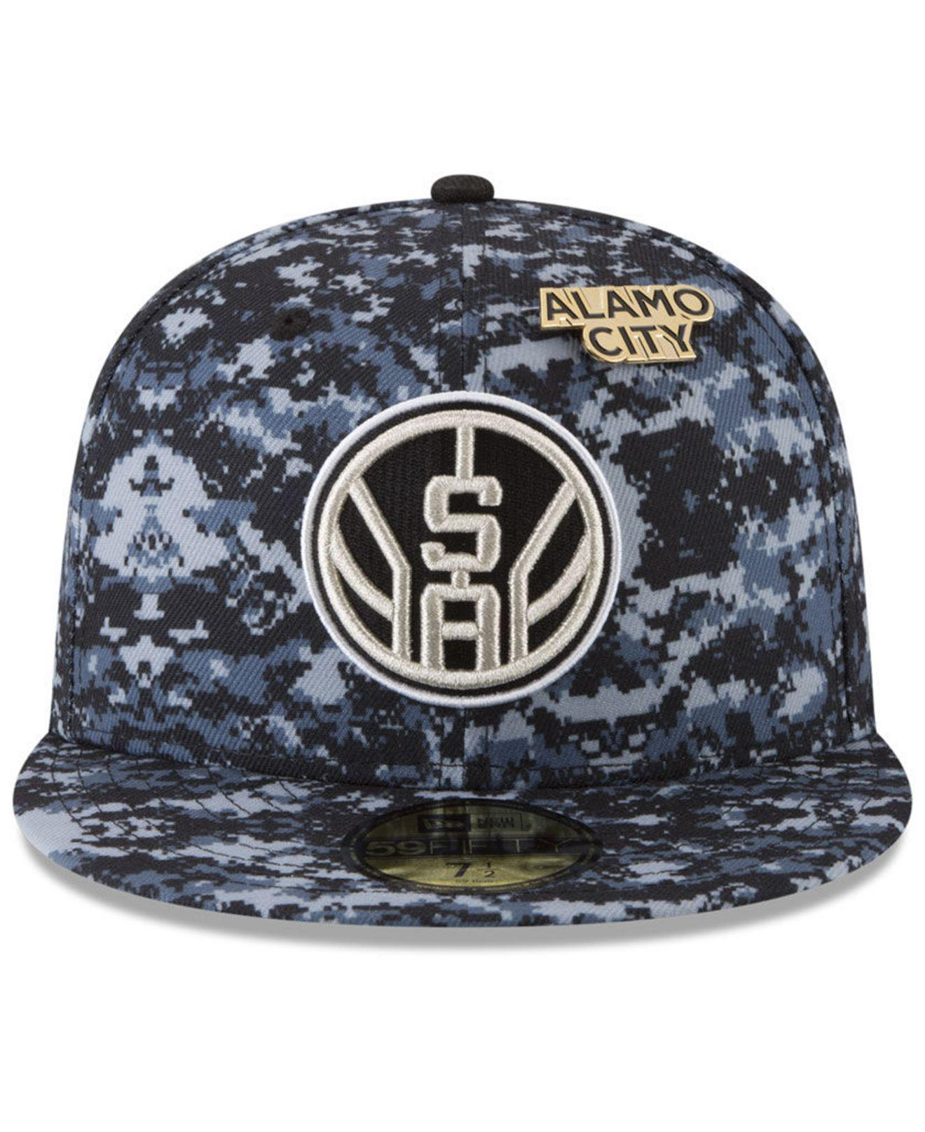 huge selection of dc336 0adf9 Lyst - KTZ San Antonio Spurs City On-court 59fifty Fitted Cap in Blue for  Men
