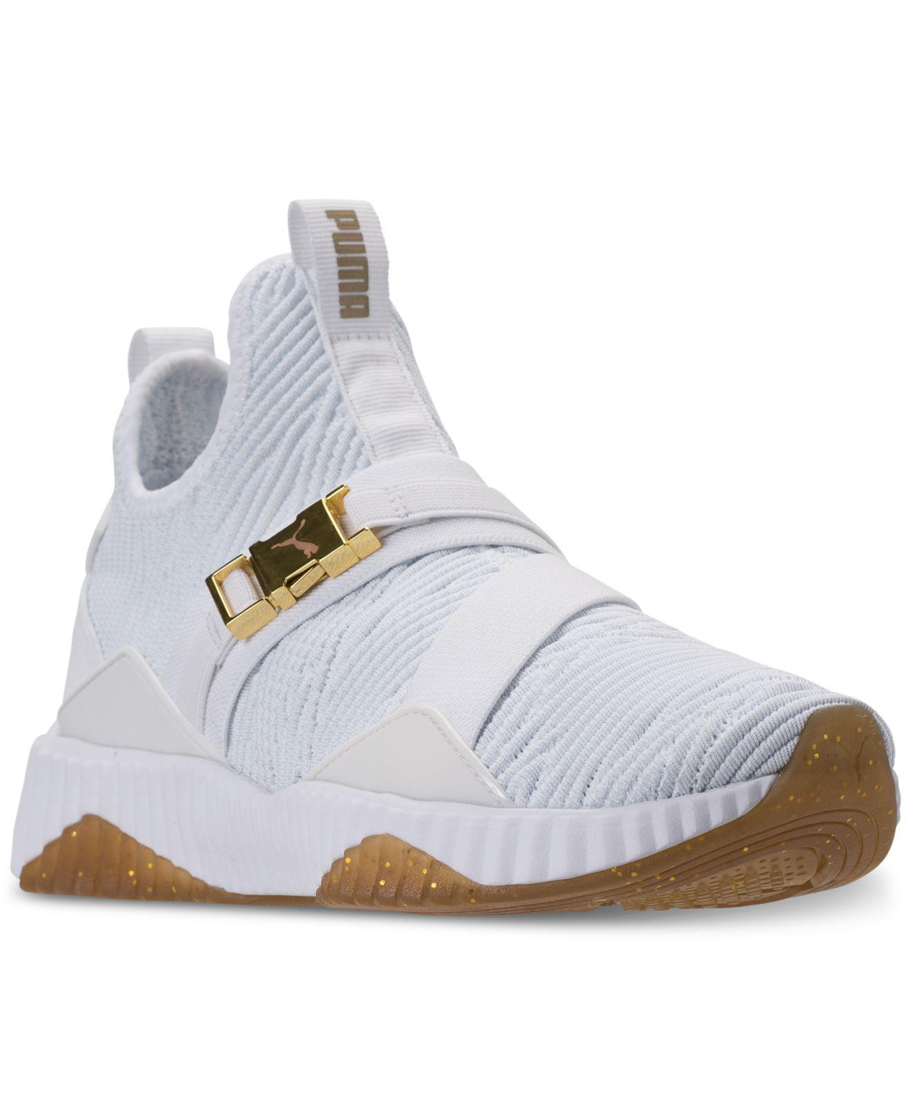 84f20c64937 Lyst - PUMA Defy Mid Varsity Casual Sneakers From Finish Line in White