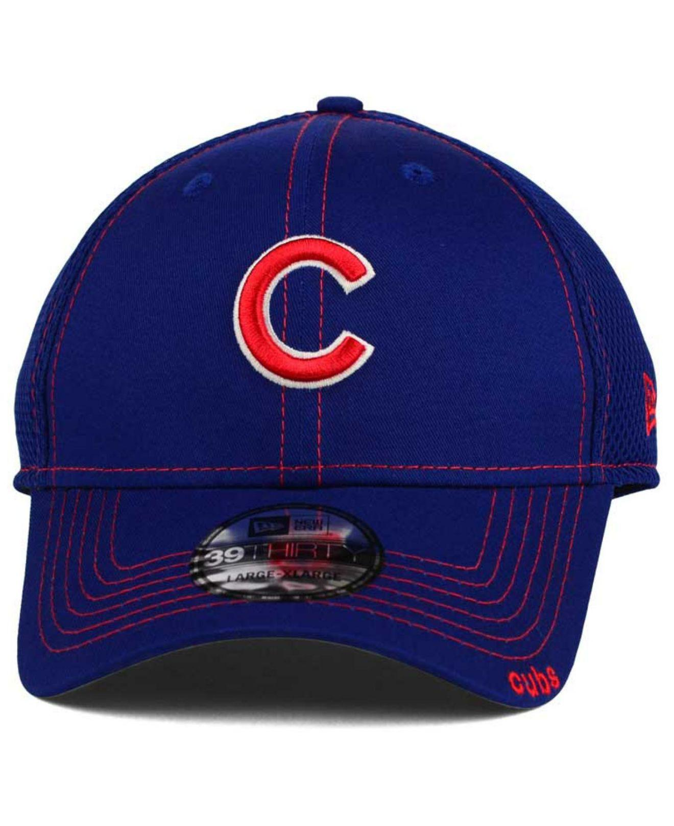 48131652d81 ... new zealand lyst ktz chicago cubs 2015 team color neo 39thirty cap in  blue for men