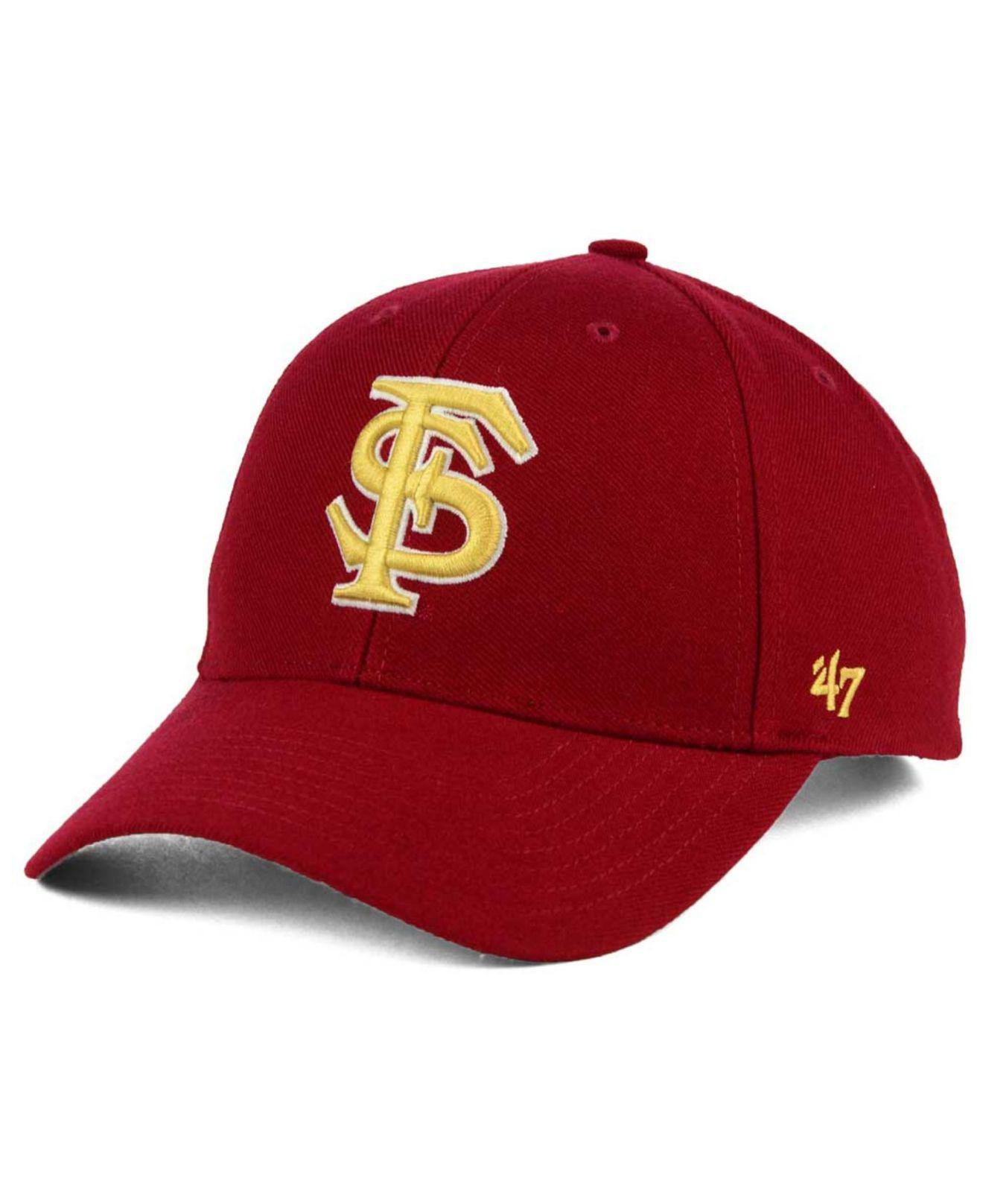sports shoes 7f046 10457 ... netherlands lyst 47 brand florida state seminoles mvp cap in red for men  94aea 30fc2