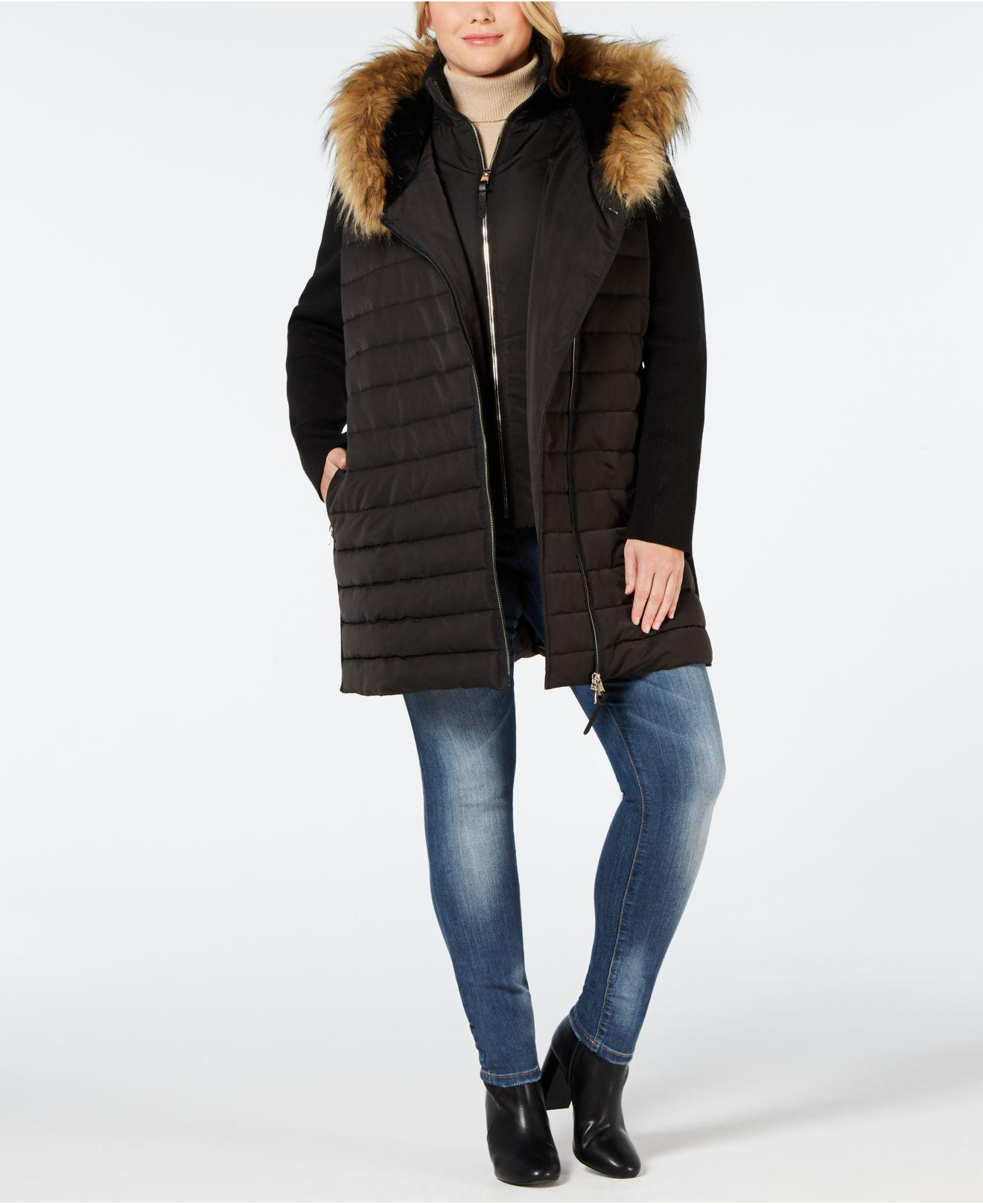 fb9efbba8f Calvin Klein Performance Plus Size Faux-fur Trimmed Hooded Walker ...