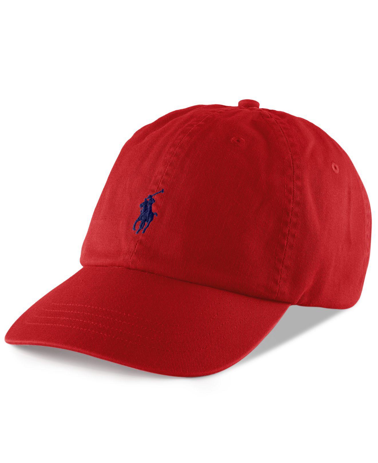 7cda8770b0d Lyst - Polo Ralph Lauren Classic Sport Cap in Red for Men - Save 21%