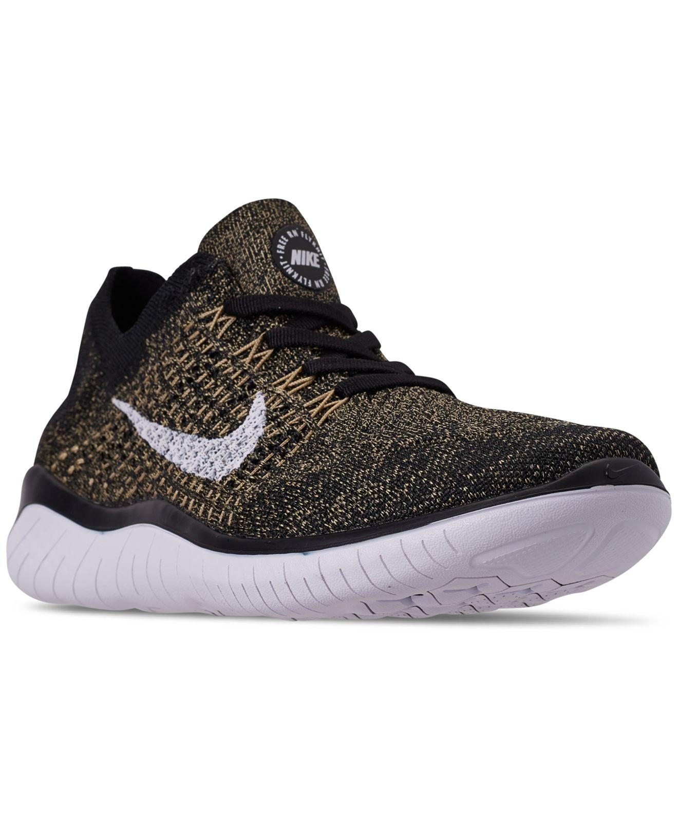 6937812992df5 Nike. Men s Black Free Rn Flyknit 2018 Running Sneakers From Finish Line