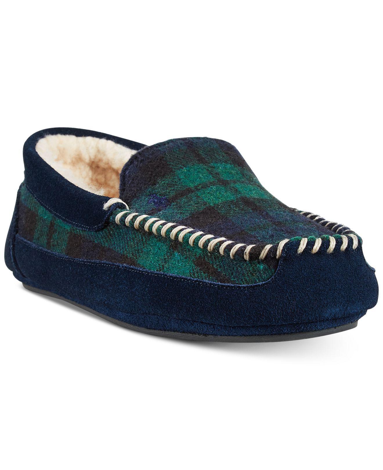 97ea7924cba Lyst - Polo Ralph Lauren Cali Wool Slippers in Blue for Men