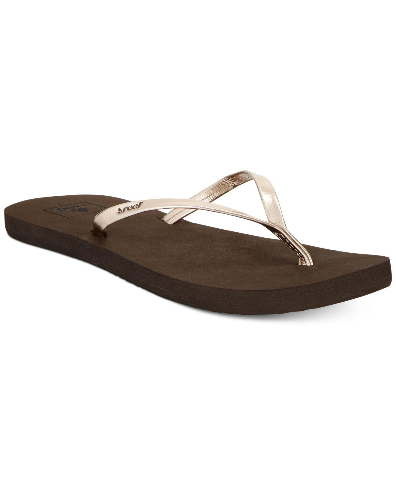a9589efbc6b5 Lyst - Reef Bliss Nights Flip-flops in Brown