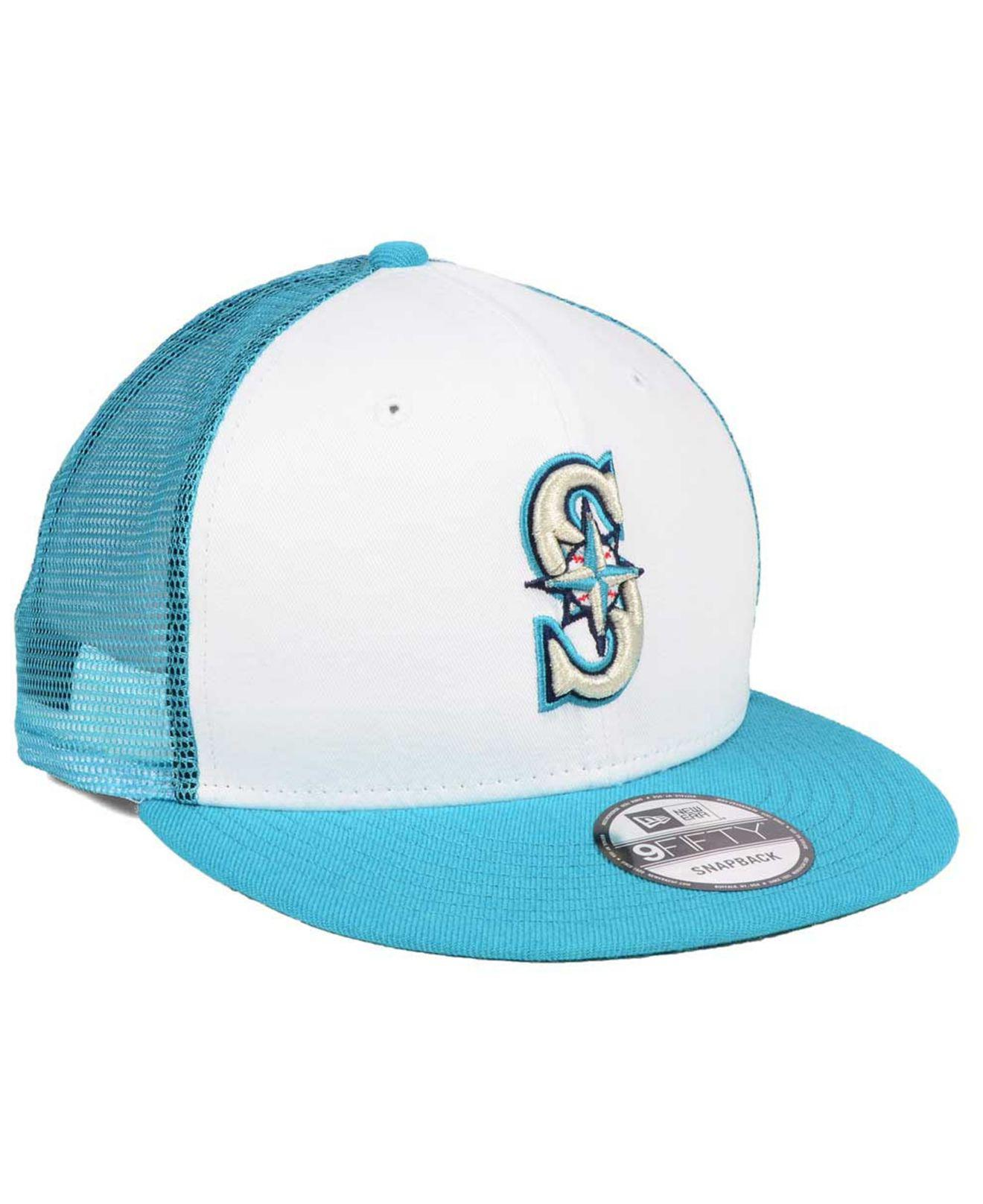 new style 14a73 6d721 ... where to buy lyst ktz seattle mariners old school mesh 9fifty snapback  cap in 27eb7 4a458 ...