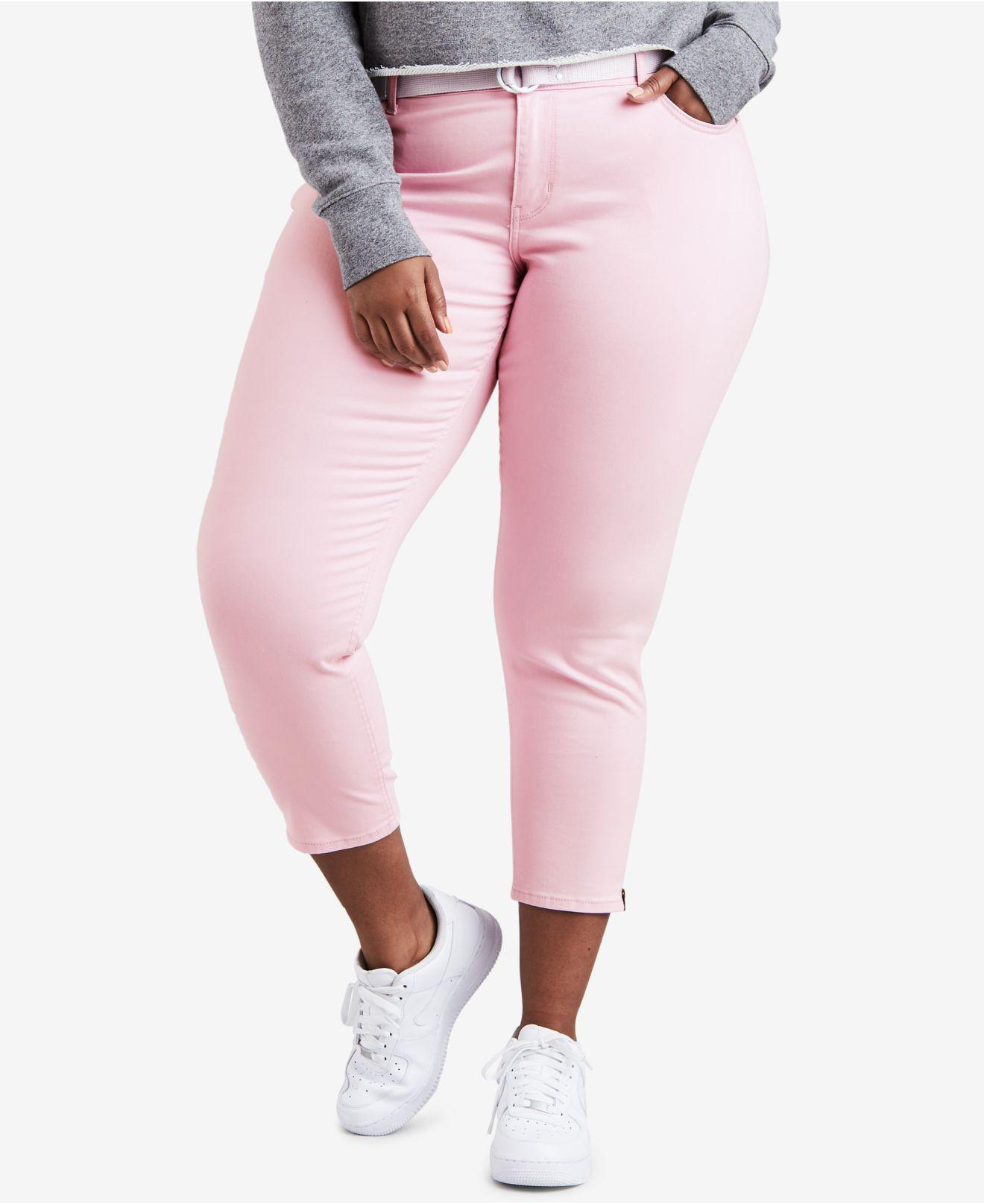 ff61e204745 Lyst - Levi s ® Plus Size 711 Cotton Skinny Ankle Jeans in Pink