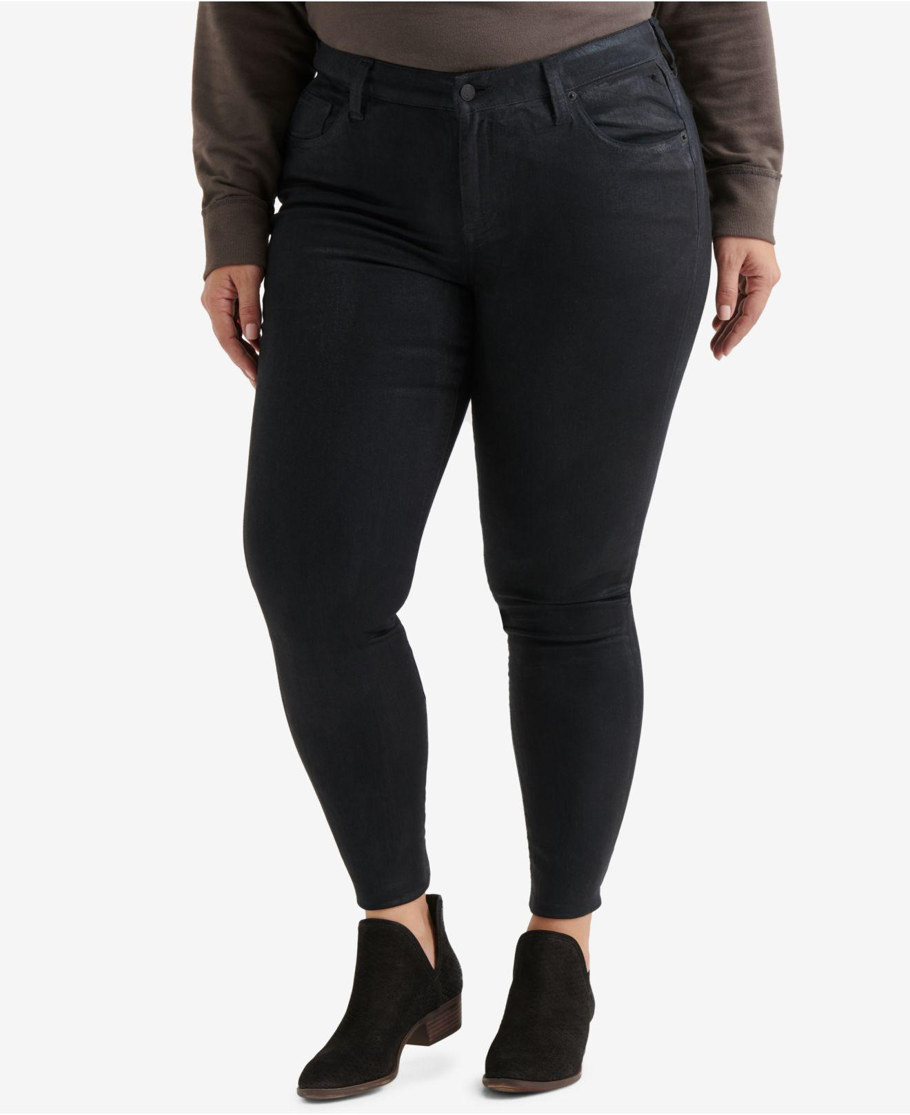 a1ca6fd04a93b Lyst - Lucky Brand Trendy Plus Size Ginger Skinny Jeans in Black
