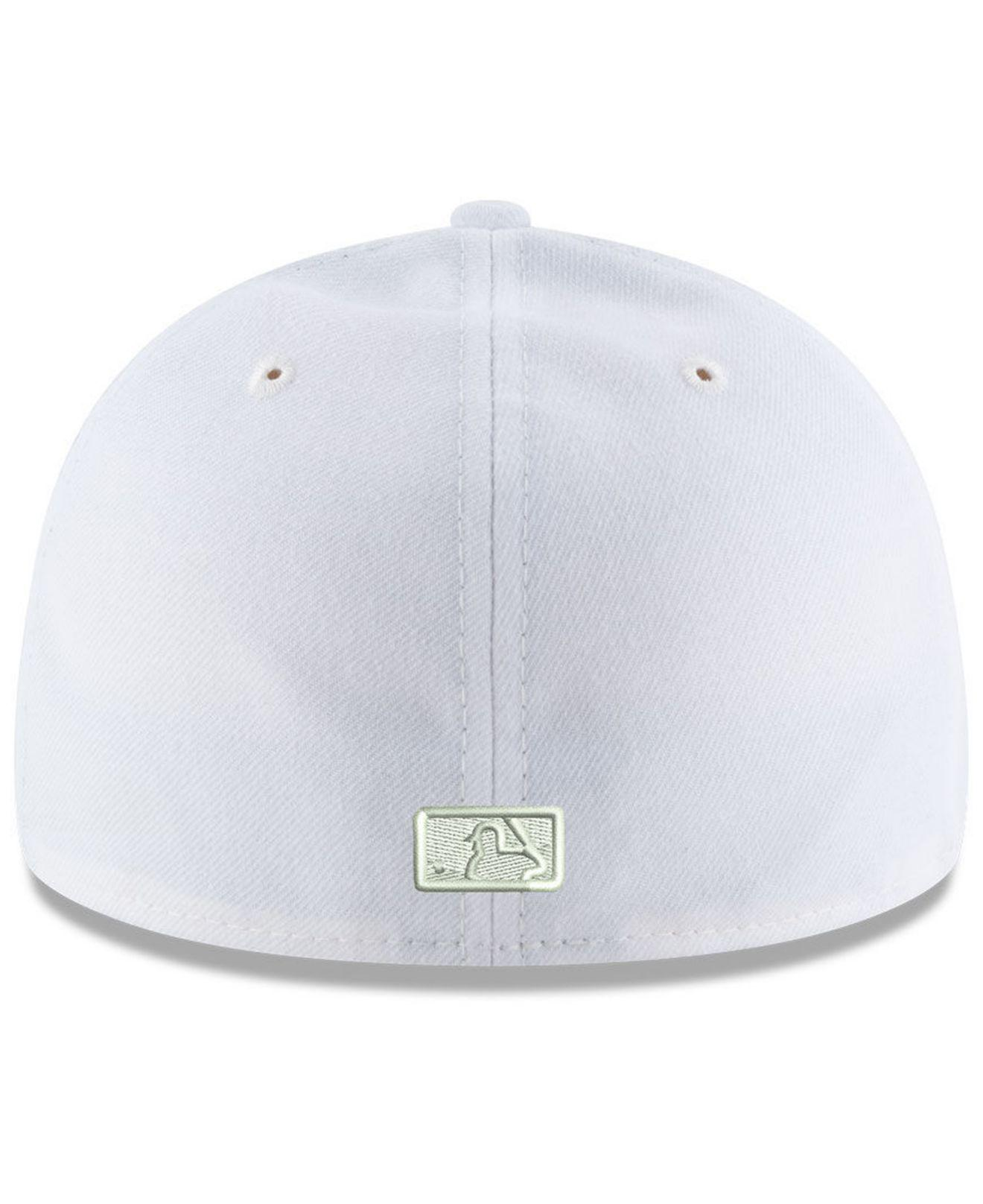 75ff09dffed ... canada ktz detroit tigers triple white low profile 59fifty fitted cap  for men lyst. view