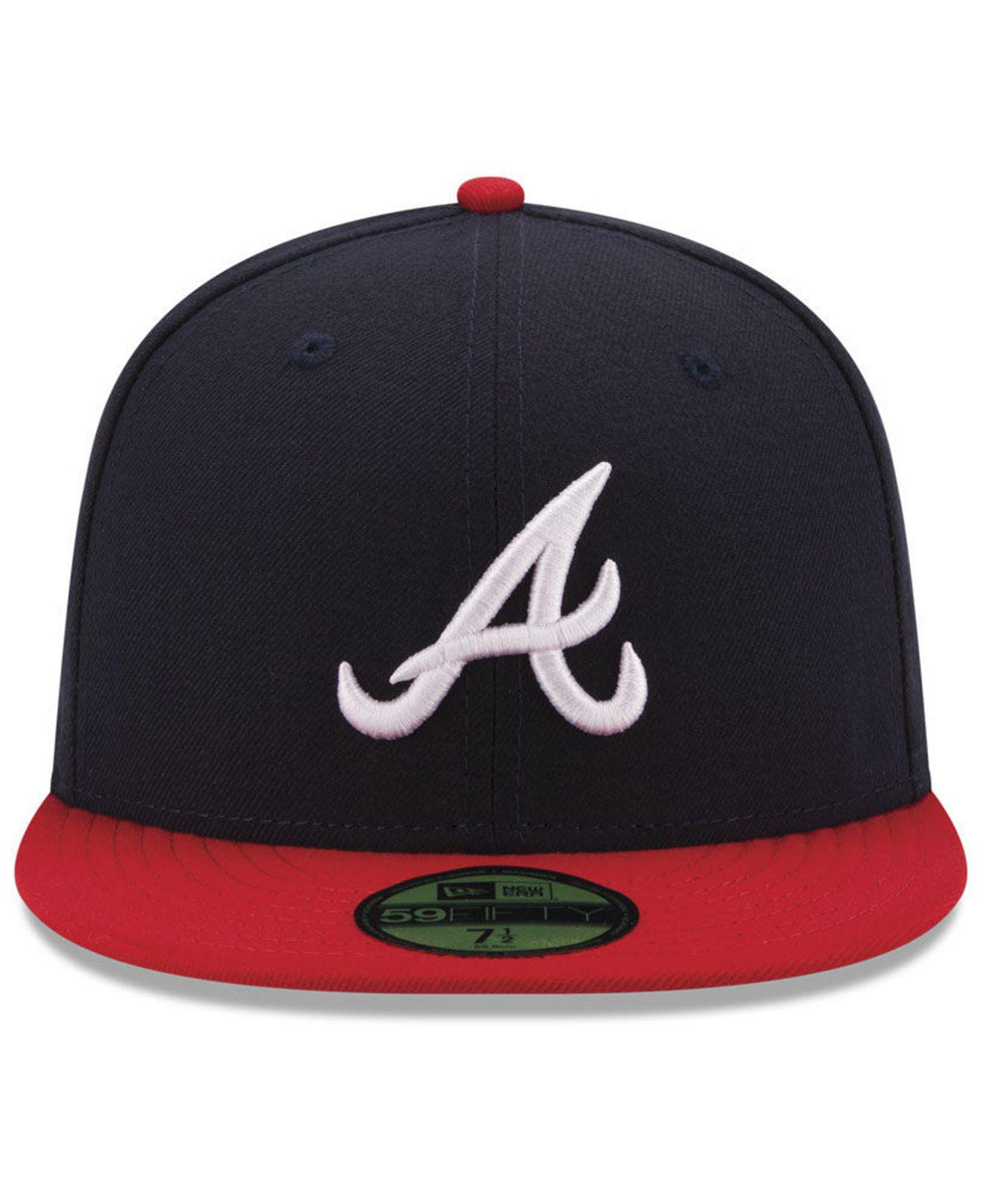 new styles 843f4 b4d26 Lyst - KTZ Atlanta Braves 9-11 Memorial 59fifty Fitted Cap in Blue for Men