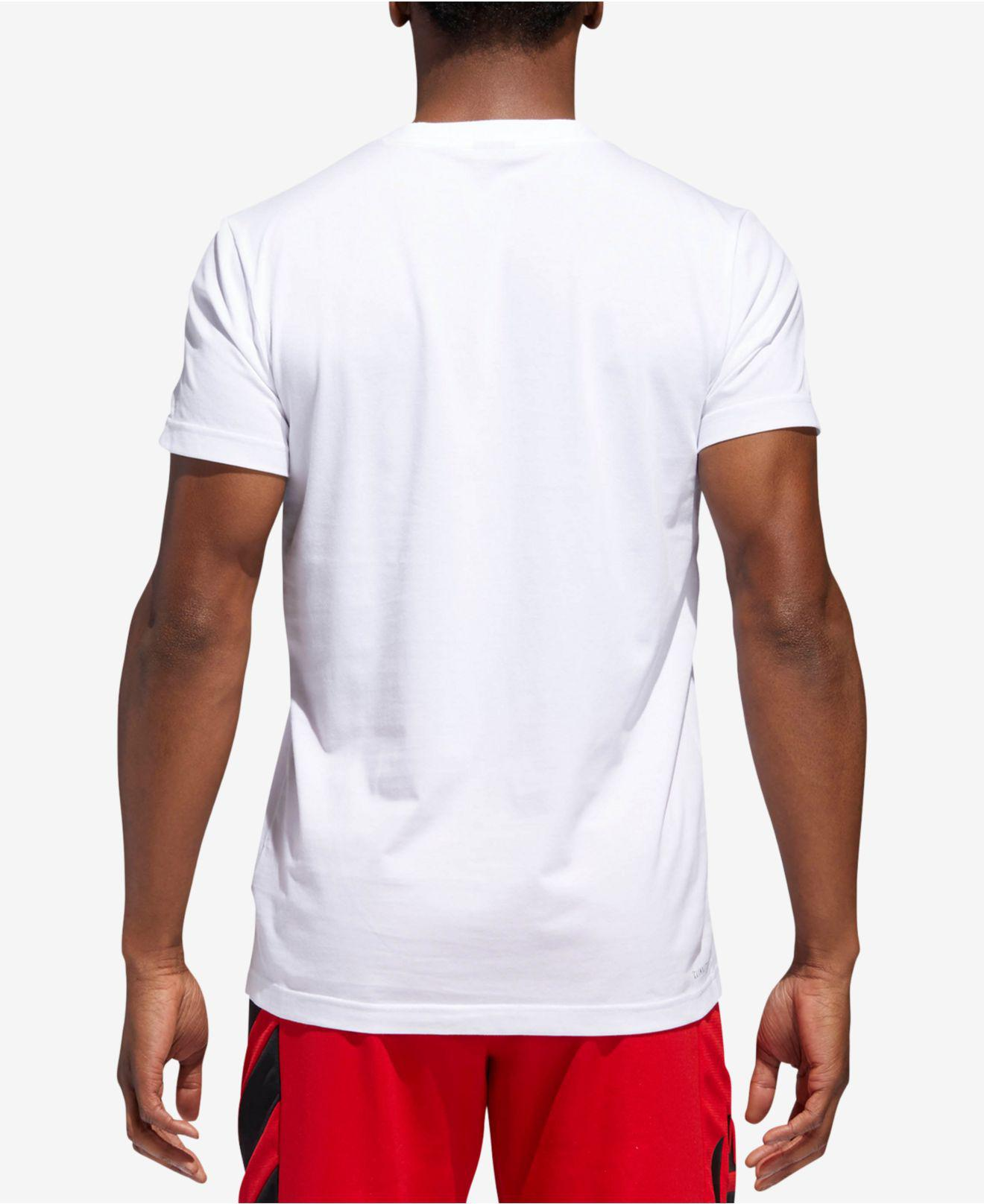 eadc4ccada4 ... lyst adidas james harden t shirt in white for men ...