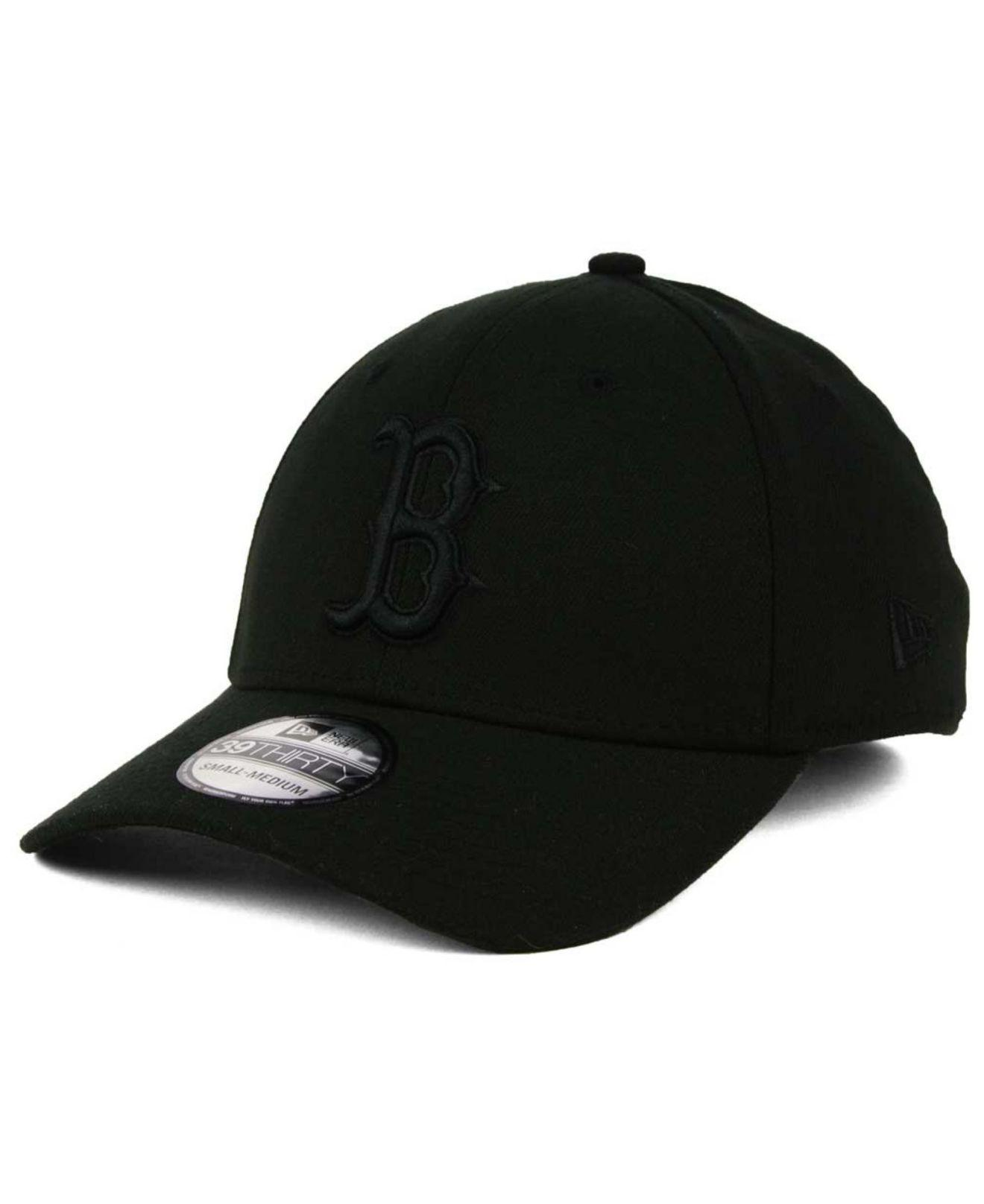 f61ccbeb hot ktz boston red sox black on black classic 39thirty cap for men lyst.  view