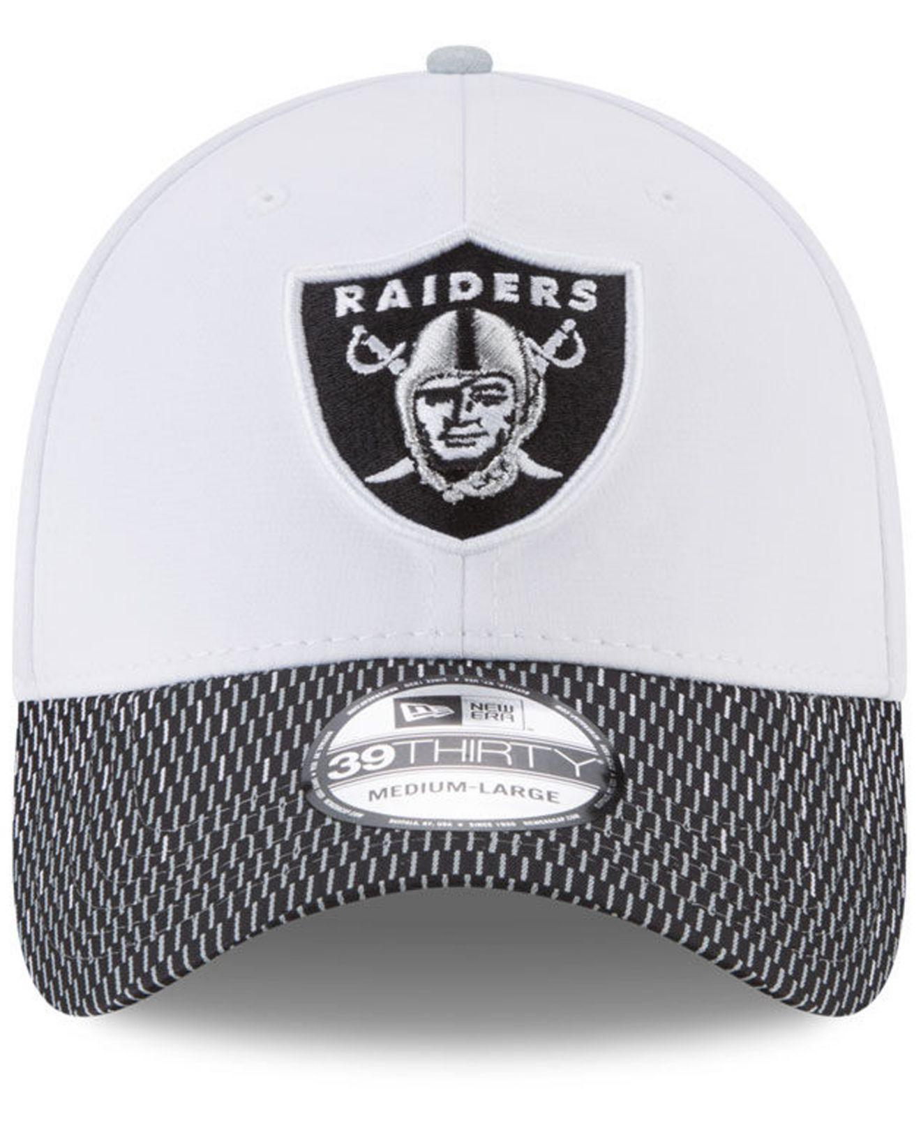 5f064eba4 Lyst - Ktz Oakland Raiders Equalizer 39thirty Cap in White for Men