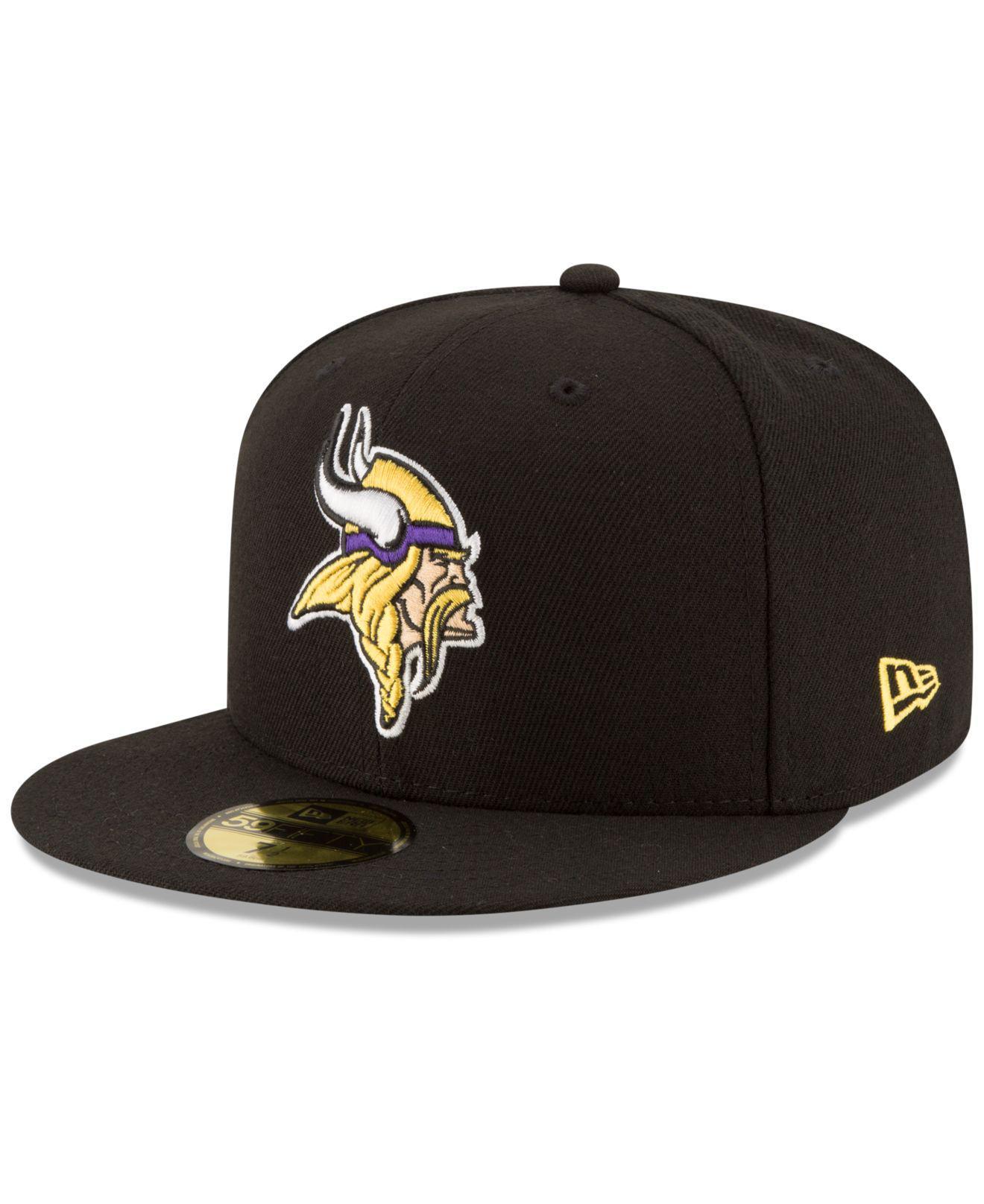 403bb62cd Lyst - Ktz Minnesota Vikings Team Basic 59fifty Cap in Black for Men