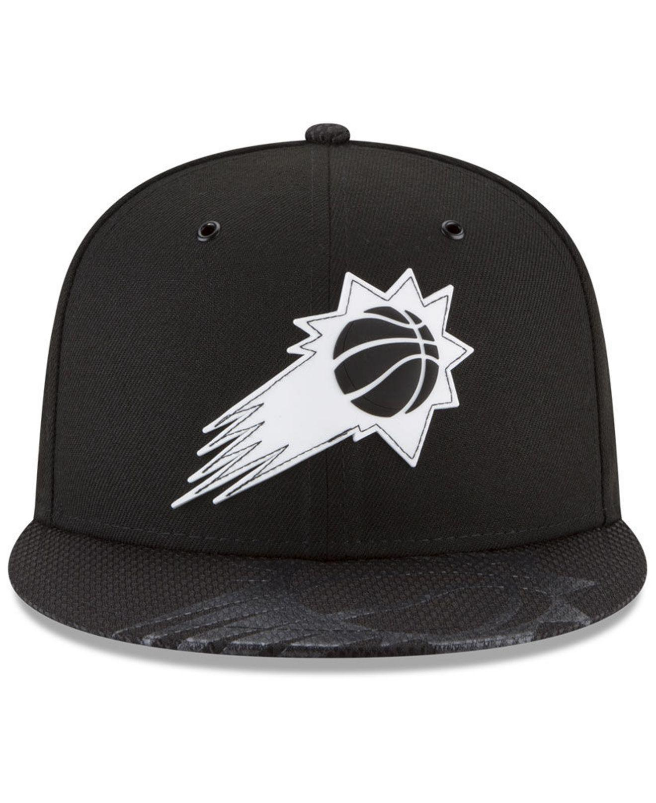 buy popular d1c5f a441e ... real lyst ktz phoenix suns back 1 2 series 9fifty snapback cap in black  for men