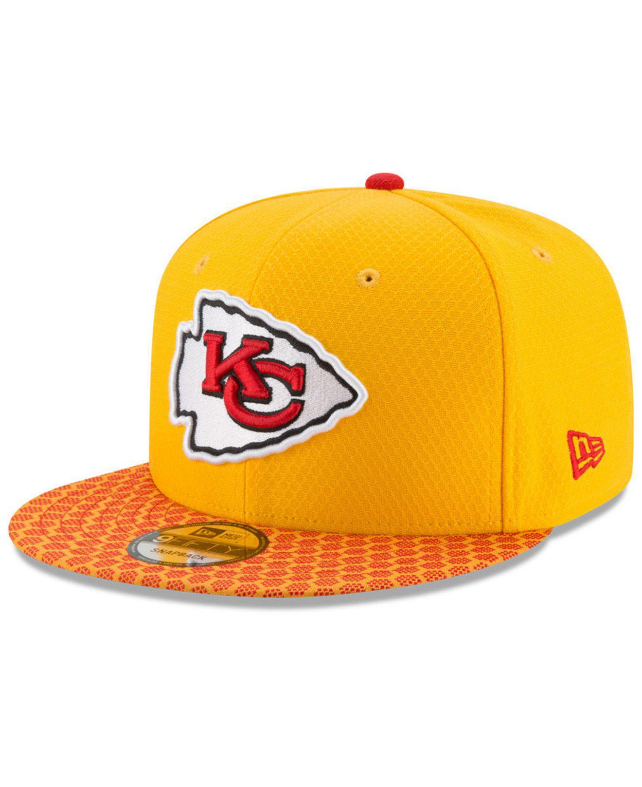 separation shoes a0cd4 df4bf Lyst - Ktz Kansas City Chiefs Sideline 9fifty Snapback Cap in Yellow ...