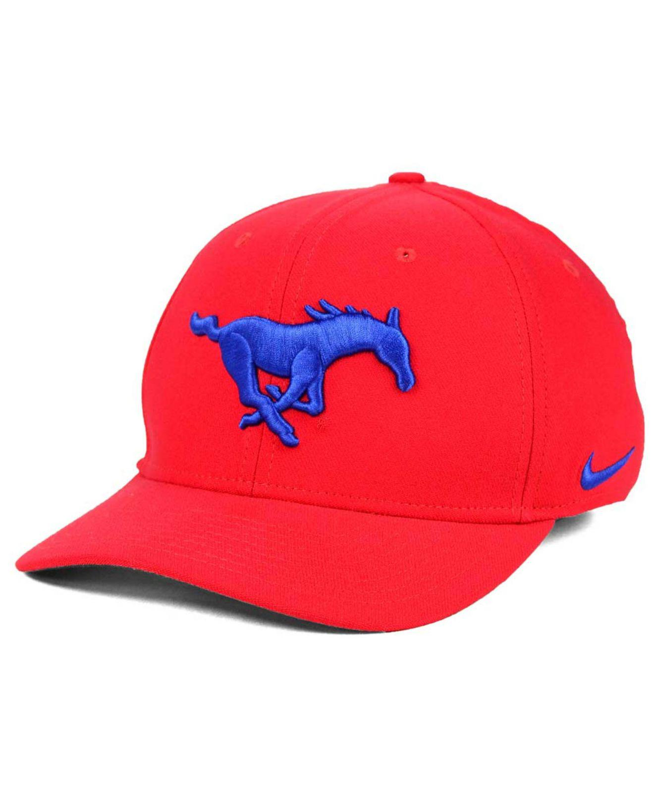 size 40 5e795 da8a8 ... free shipping nike. mens red southern methodist mustangs classic swoosh  cap 35ae3 49f75
