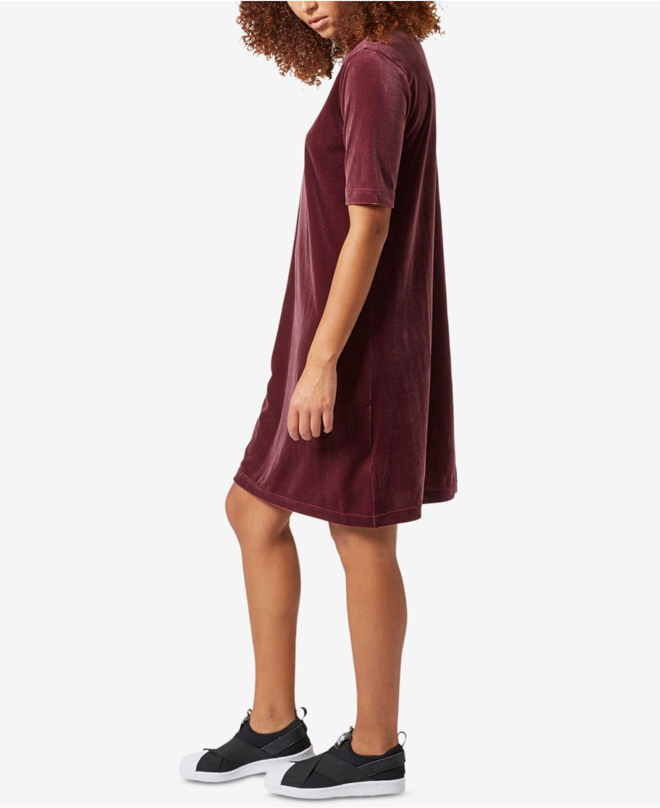 cfcefe4eeea4 Lyst - adidas Originals Velvet Vibes Short Dress