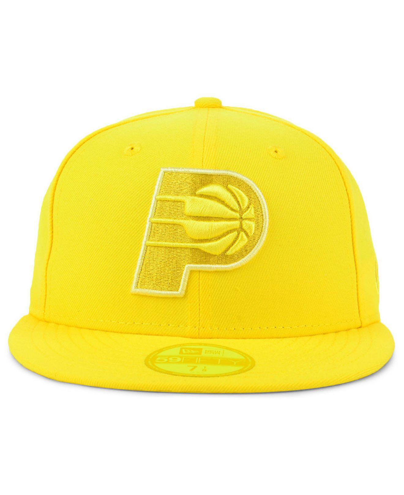 ... sweden lyst ktz indiana pacers color prism pack 59fifty fitted cap in  yellow for men ff03c dba4afb9ccd1