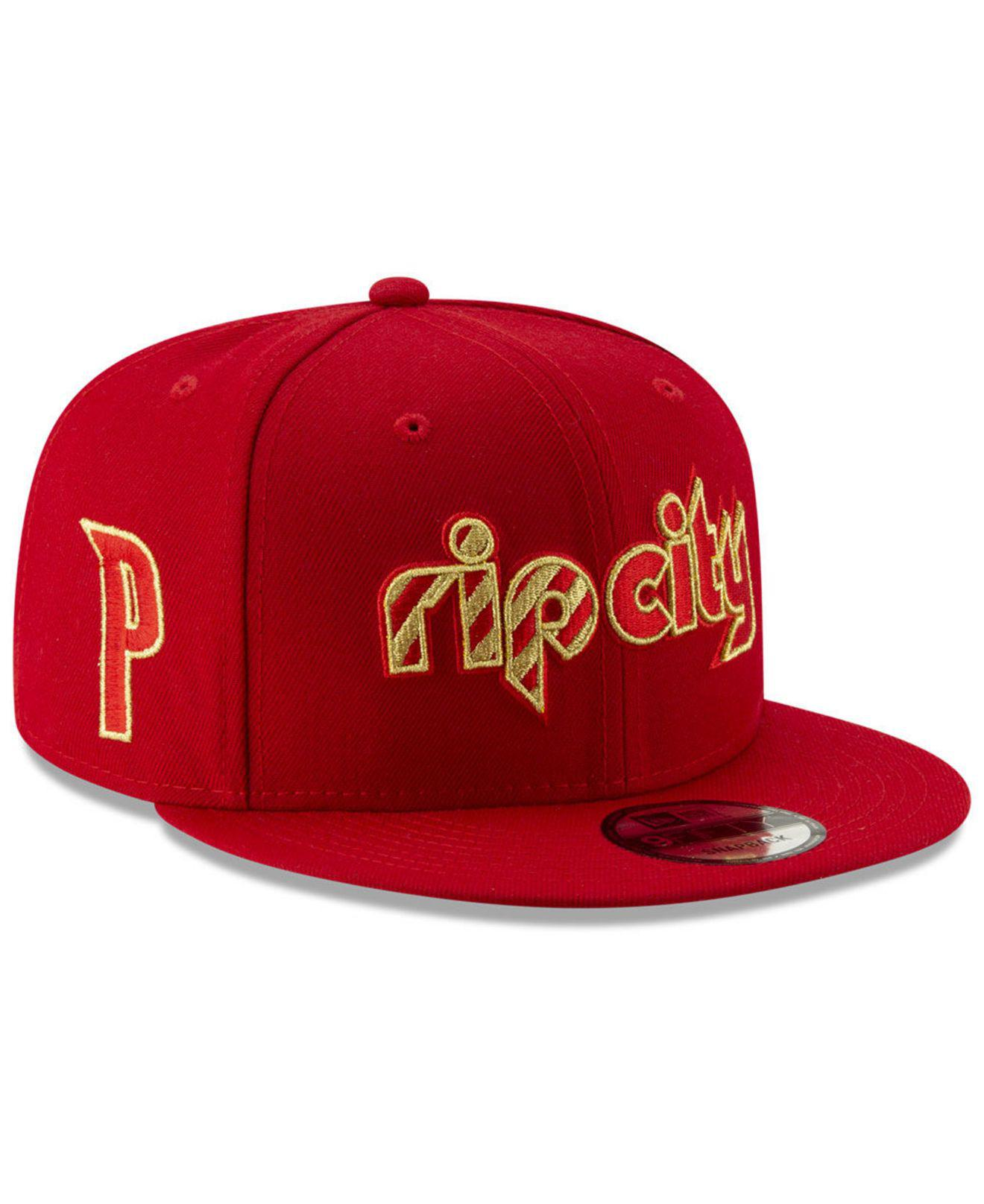new product da4c5 db727 KTZ. Men s Red Portland Trail Blazers Mishmash 9fifty Snapback Cap