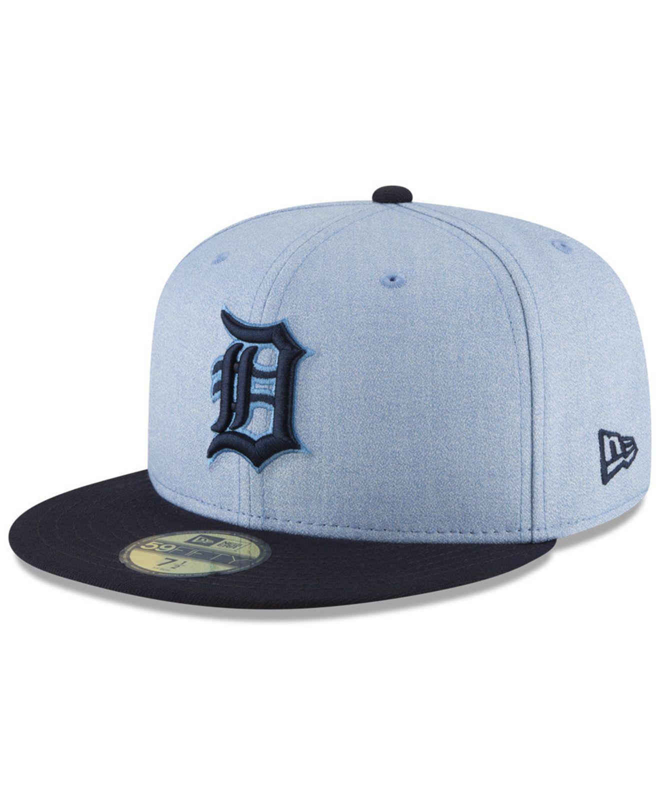 2b2c62e0e64 KTZ - Blue Detroit Tigers Father s Day 59fifty Fitted Cap 2018 for Men -  Lyst. View fullscreen