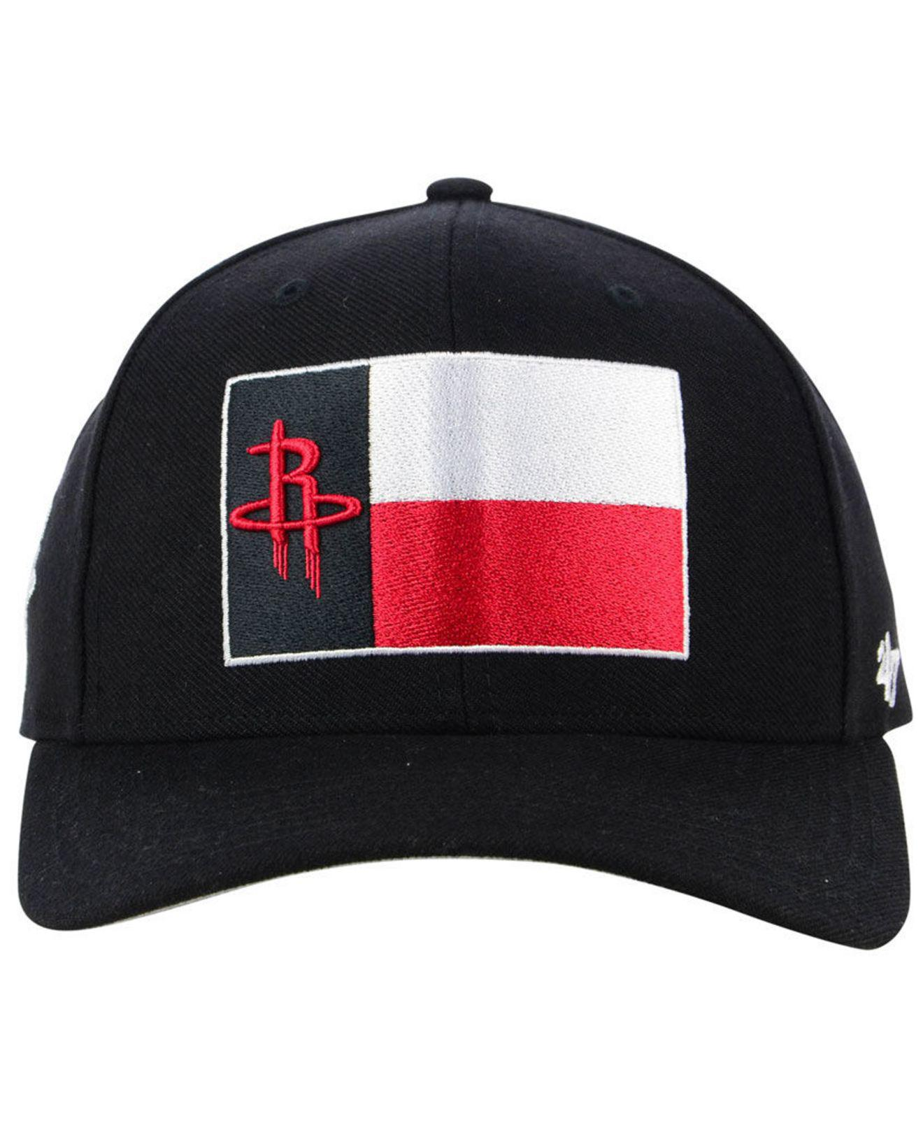 newest 9d3e3 27dc5 ... sale lyst 47 brand houston rockets all region mvp cap in black for men  fdf14 d335e