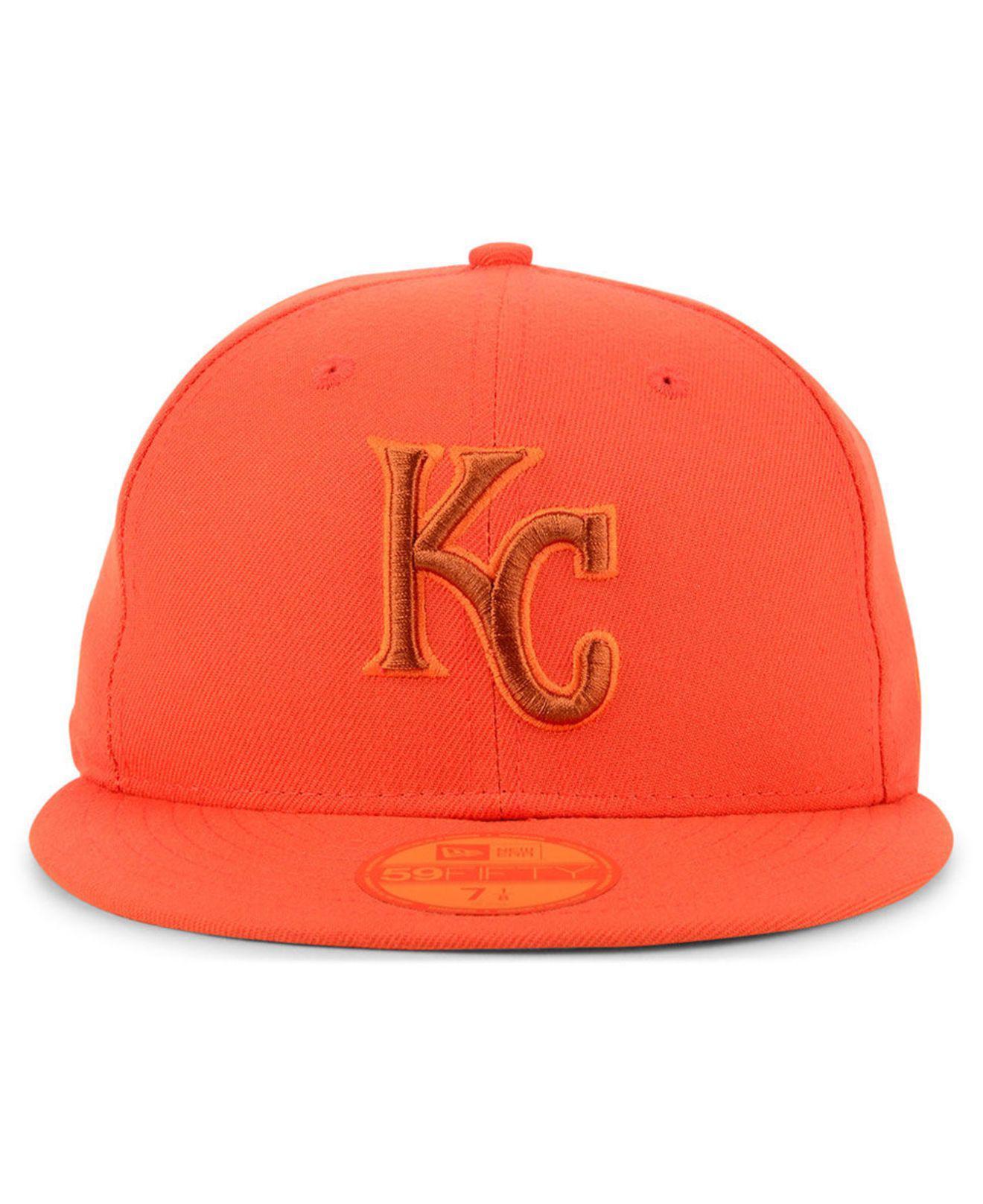 Lyst - Ktz Kansas City Royals Prism Color Pack 59fifty Fitted Cap in Orange  for Men de5e431e8102