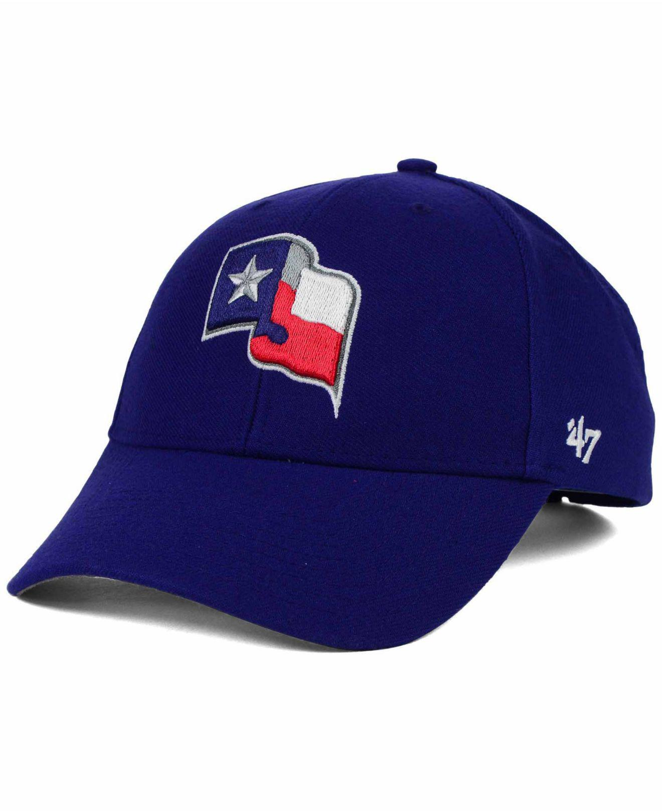 separation shoes 0234f e16a4 47 Brand. Men s Blue Texas Rangers Mvp Curved Cap