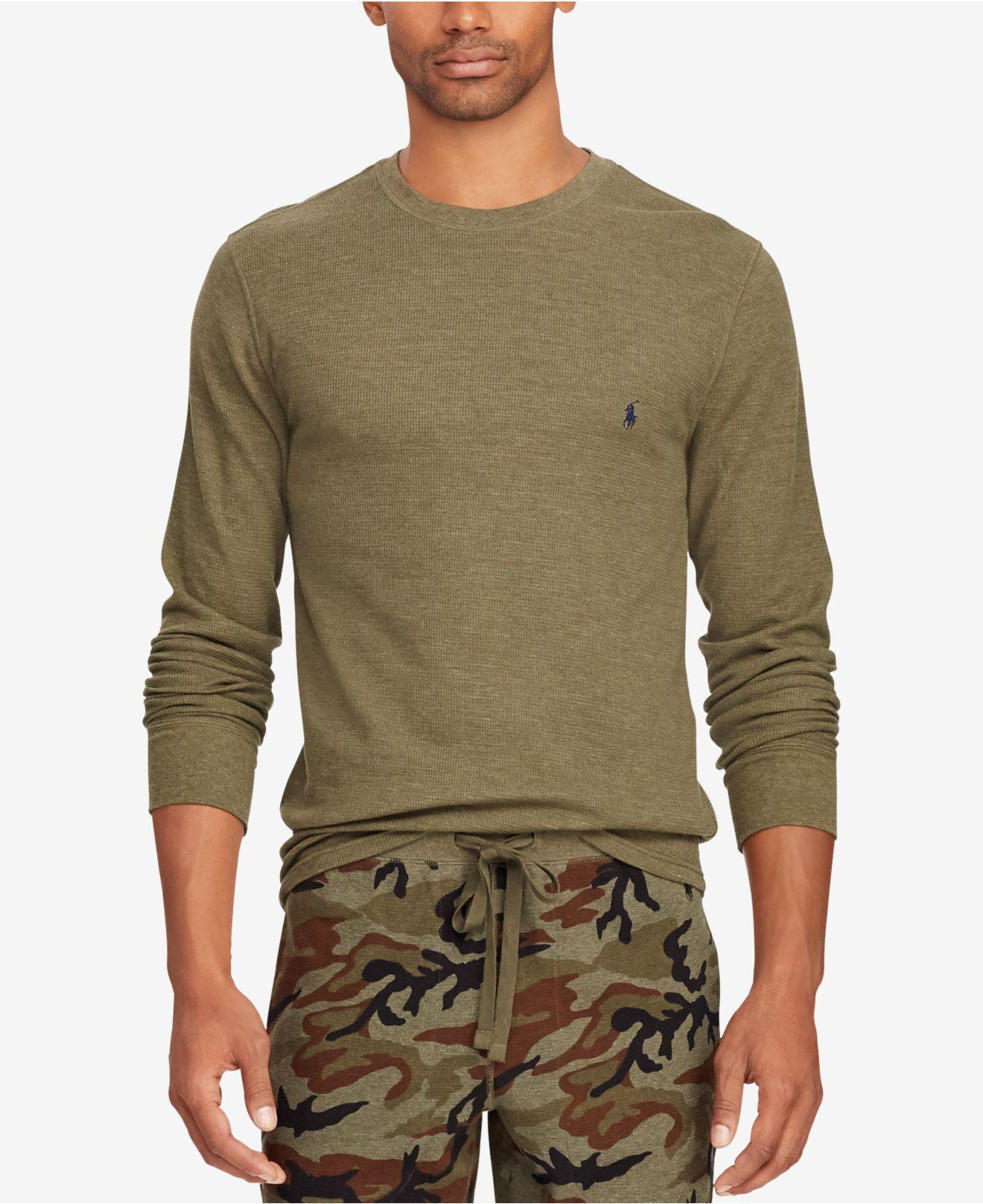 37fc5a5a0 Lyst - Polo Ralph Lauren Waffle-knit Thermal in Green for Men