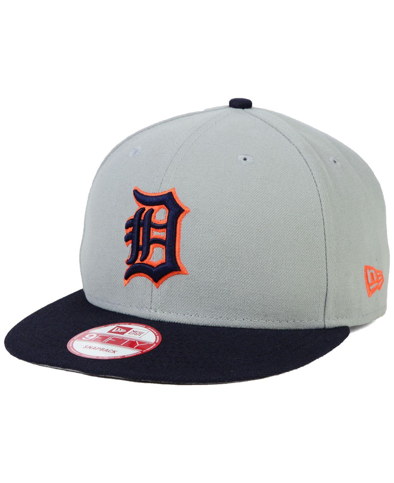 big sale d4d7a 71fa1 KTZ. Men s Gray Detroit Tigers 2-tone Link 9fifty Snapback Cap
