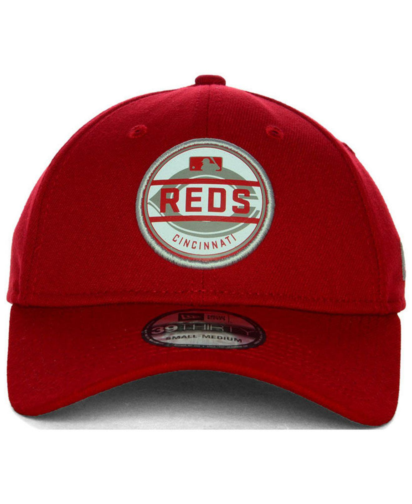 7b4f5af1 ... germany ktz cincinnati reds circle reflect 39thirty stretch fitted cap  for men lyst. view fullscreen