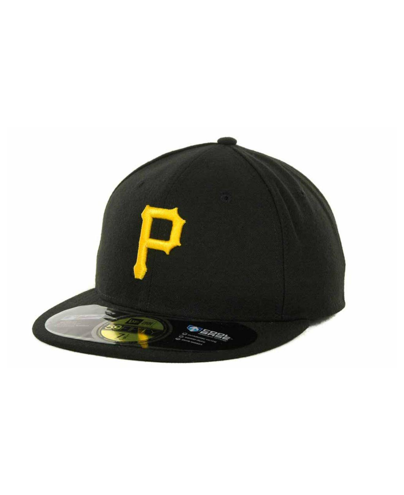 hot sale online 386d8 57f94 KTZ - Black Pittsburgh Pirates Authentic Collection 59fifty Hat for Men -  Lyst. View fullscreen
