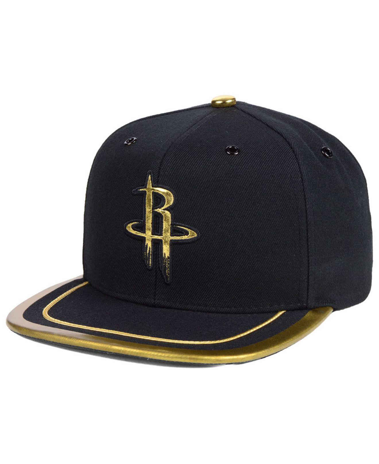 new product 21c47 b8d00 Lyst - Mitchell   Ness Houston Rockets Soutache Viz Snapback Cap in ...