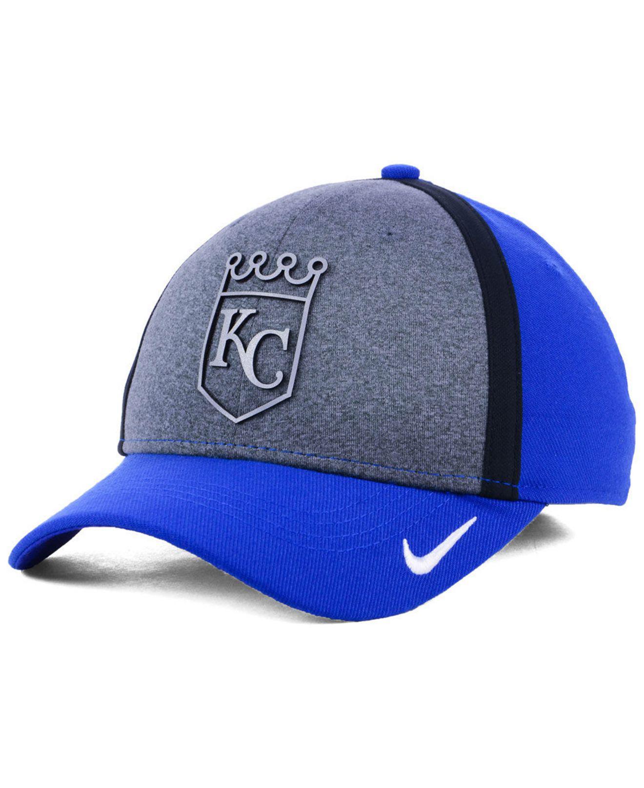 7410cc73 Lyst - Nike Kansas City Royals Team Color Reflective Swooshflex Cap ...