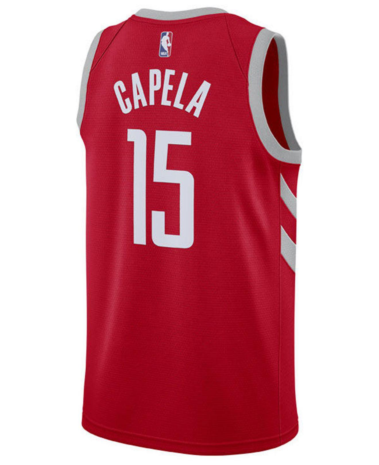Lyst - Nike Clint Capela Houston Rockets Icon Swingman Jersey in Red for Men 4918183cf