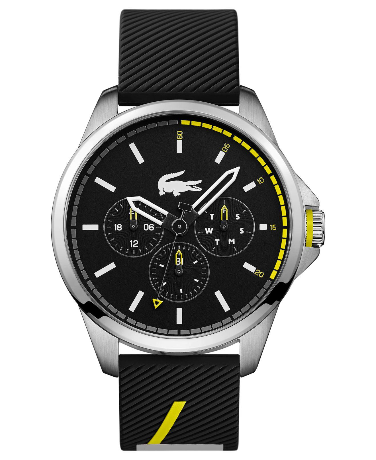 274ad66b9 ... Lacoste - Men's Black Analogue Silicone Strap Watch for Men - Lyst.  Visit Macy's. Tap to visit site