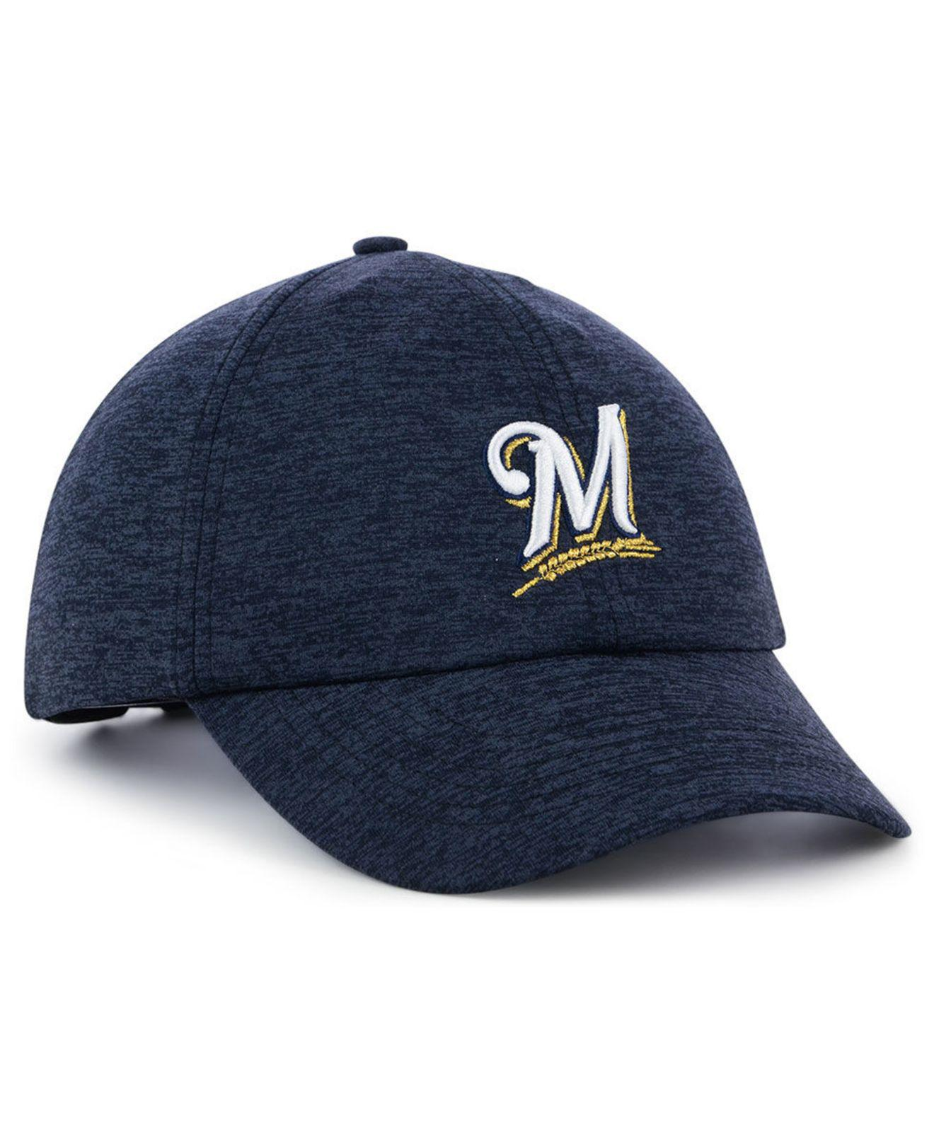finest selection c9253 3e40b shop under armour blue milwaukee brewers renegade twist cap lyst. view  fullscreen 56681 64d38