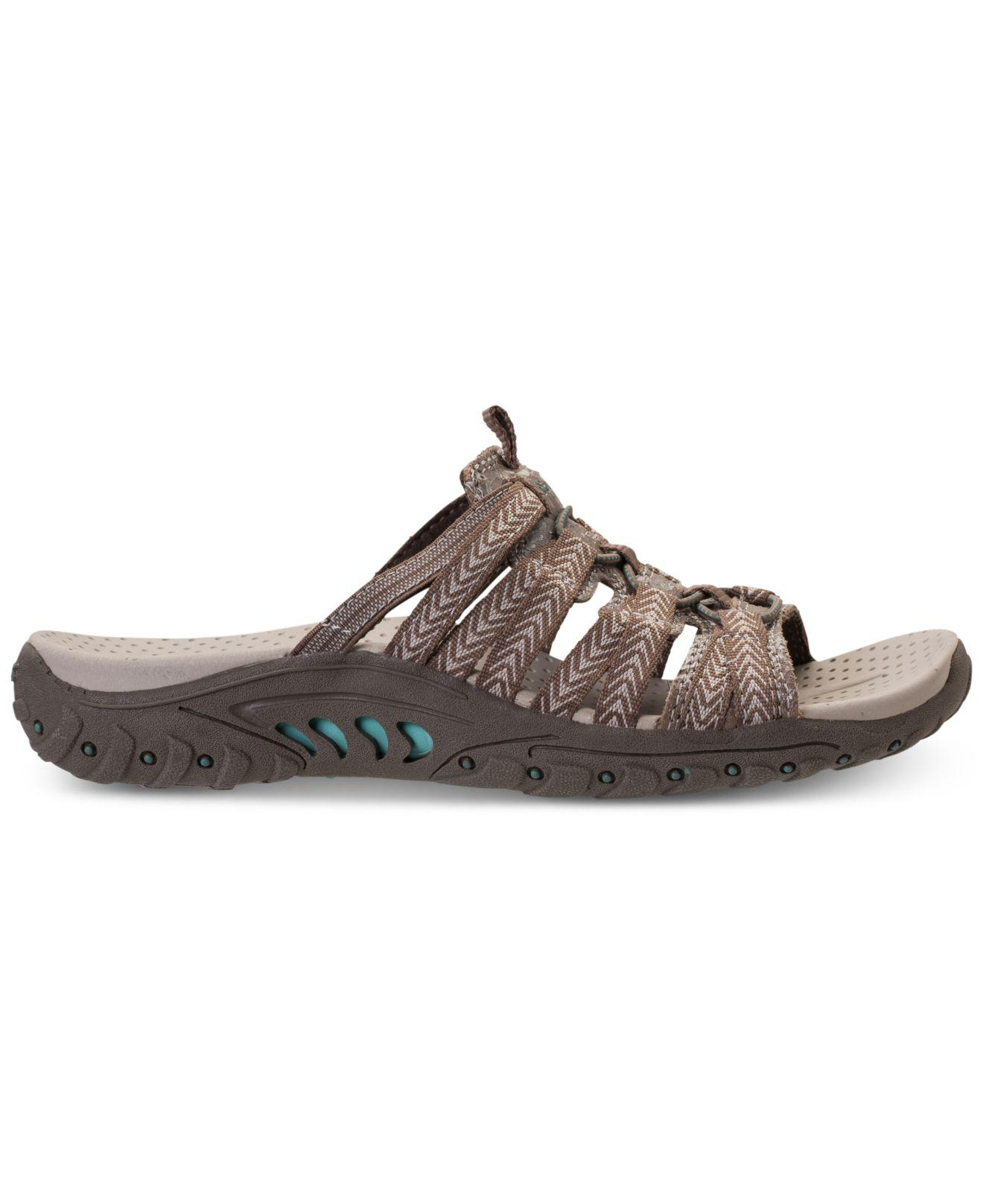 c1d95ab7cff Lyst - Skechers Reggae - Repetition Athletic Sandals From Finish Line in  Brown