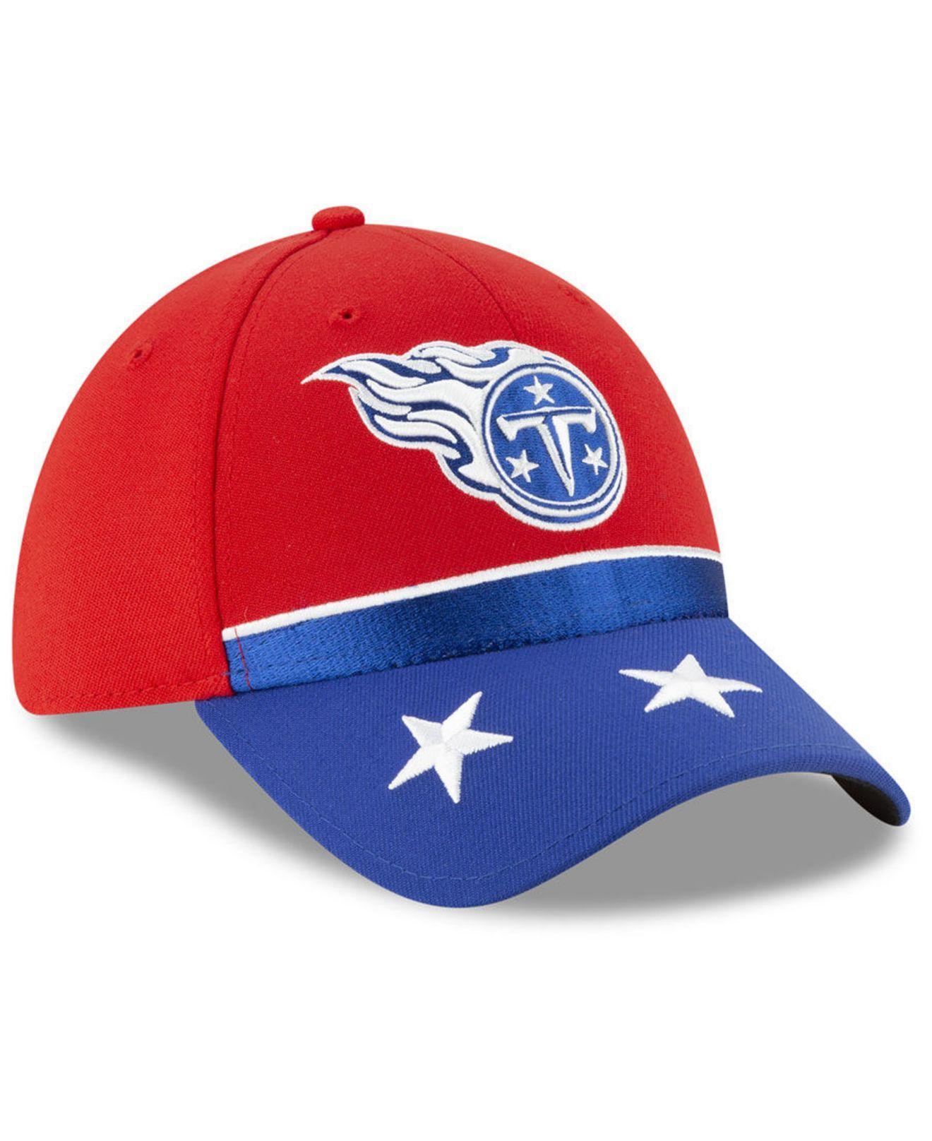 low priced d502c 1fe7b KTZ - Red Tennessee Titans Draft Spotlight 39thirty Cap for Men - Lyst.  View fullscreen