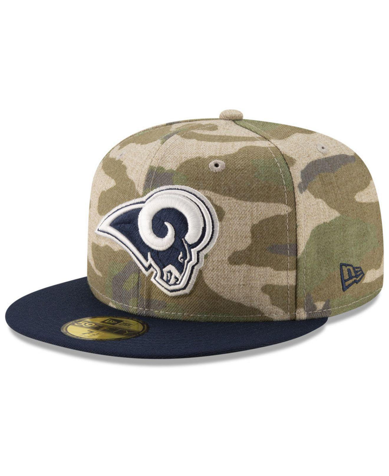 Lyst - KTZ Los Angeles Rams Vintage Camo 59fifty Fitted Cap in Green ... 227773137