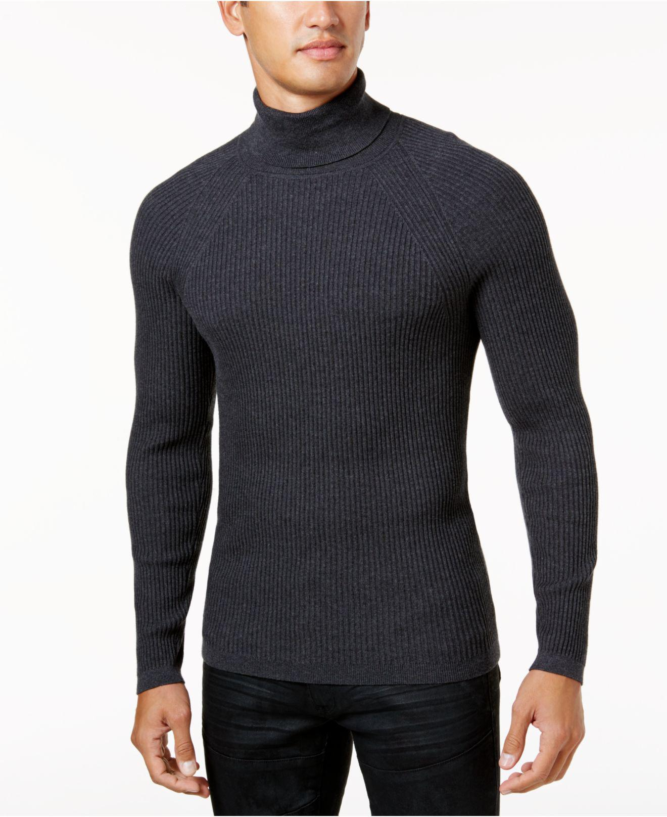 Inc international concepts Men's Ribbed Turtleneck Sweater in Blue ...