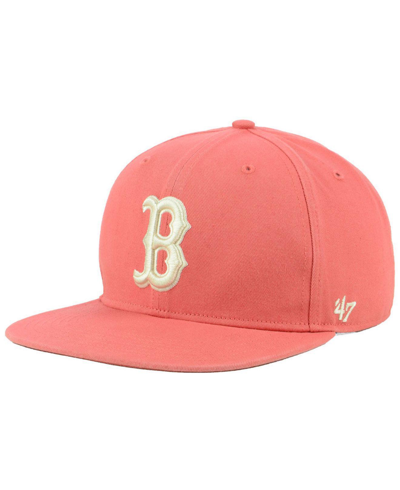 51154683 Lyst - 47 Brand Boston Red Sox Island Snapback Cap for Men